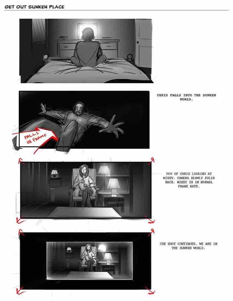 Storyboard Example - Get Out Storyboard 2 - Eric Yamamoto - StudioBinder