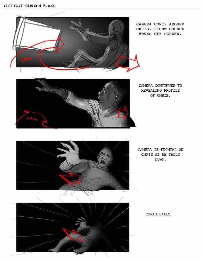 Storyboard Example - Get Out Storyboard - Eric Yamamoto - StudioBinder