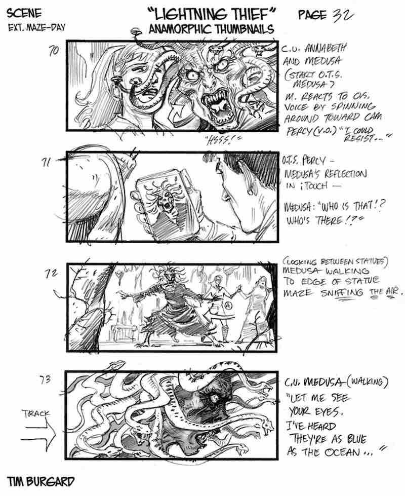 Storyboard Example - Percy Jackson Storyboard - Tim Burgard - StudioBinder