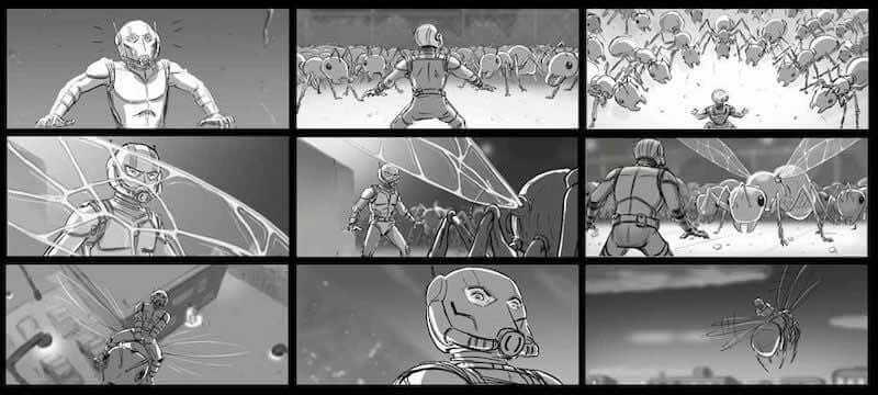 Storyboard Examples - Ant Man Storyboard - Steven Markowski - StudioBinder