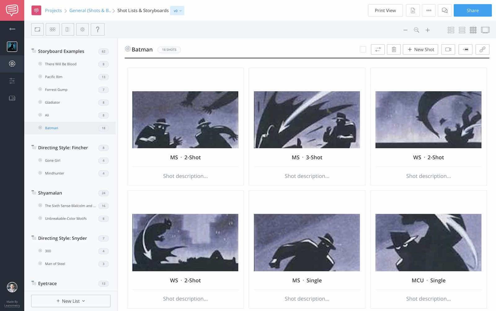 Storyboard Examples - Batman Storyboard Complete - StudioBinder