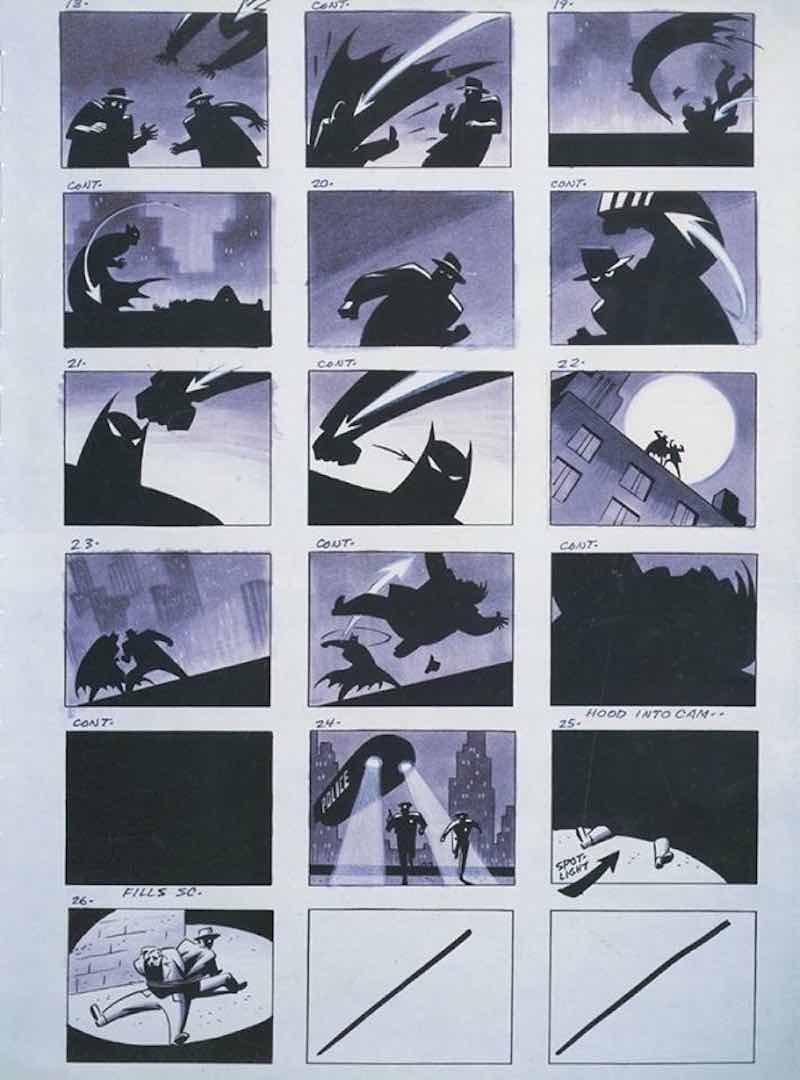 Storyboard Examples - Batman Storyboard - StudioBinder