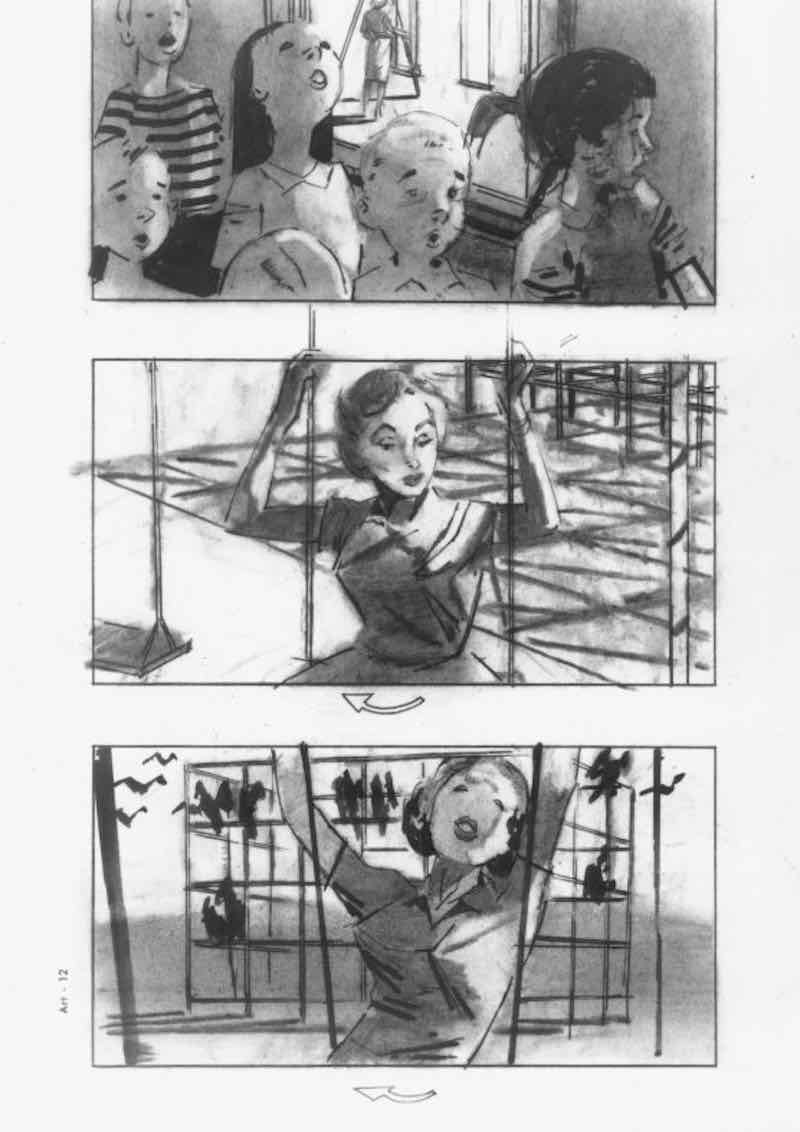 Storyboard Examples - The Birds Storyboard - StudioBinder