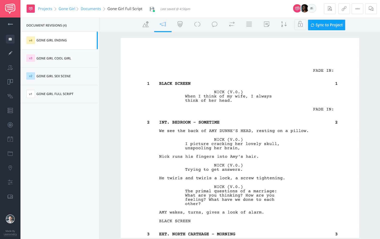 Gone Girl Script Teardown - Full Script - StudioBinder