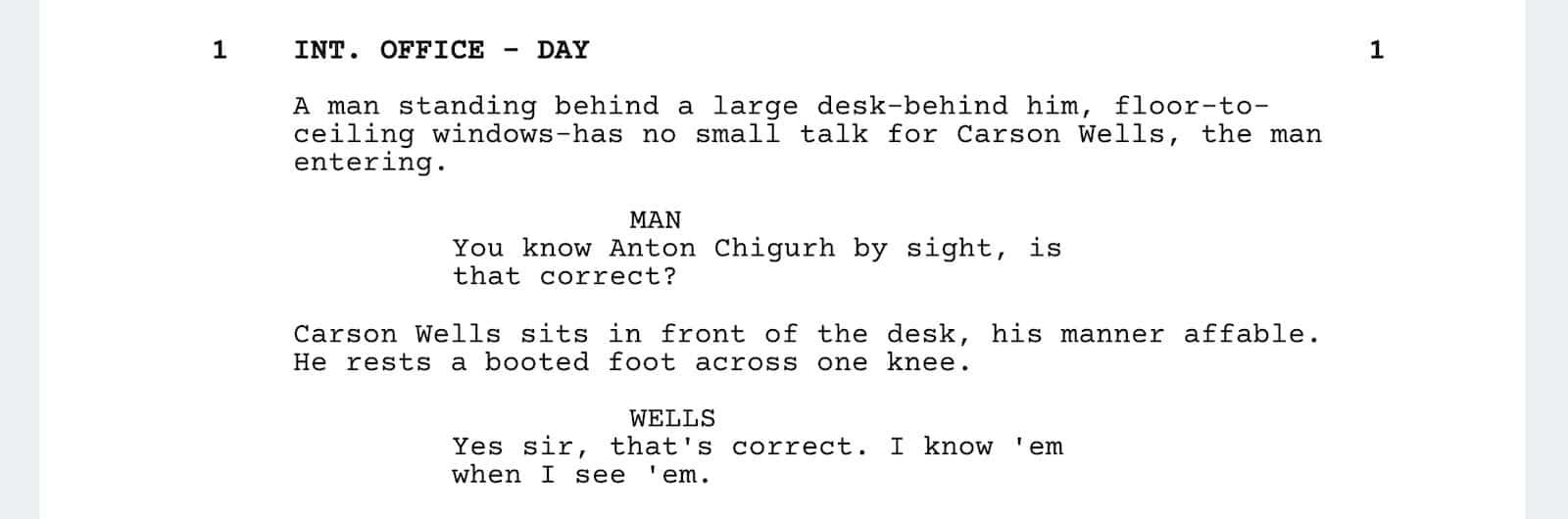 No Country for Old Men Script Teardown - Characters 1 - StudioBinder