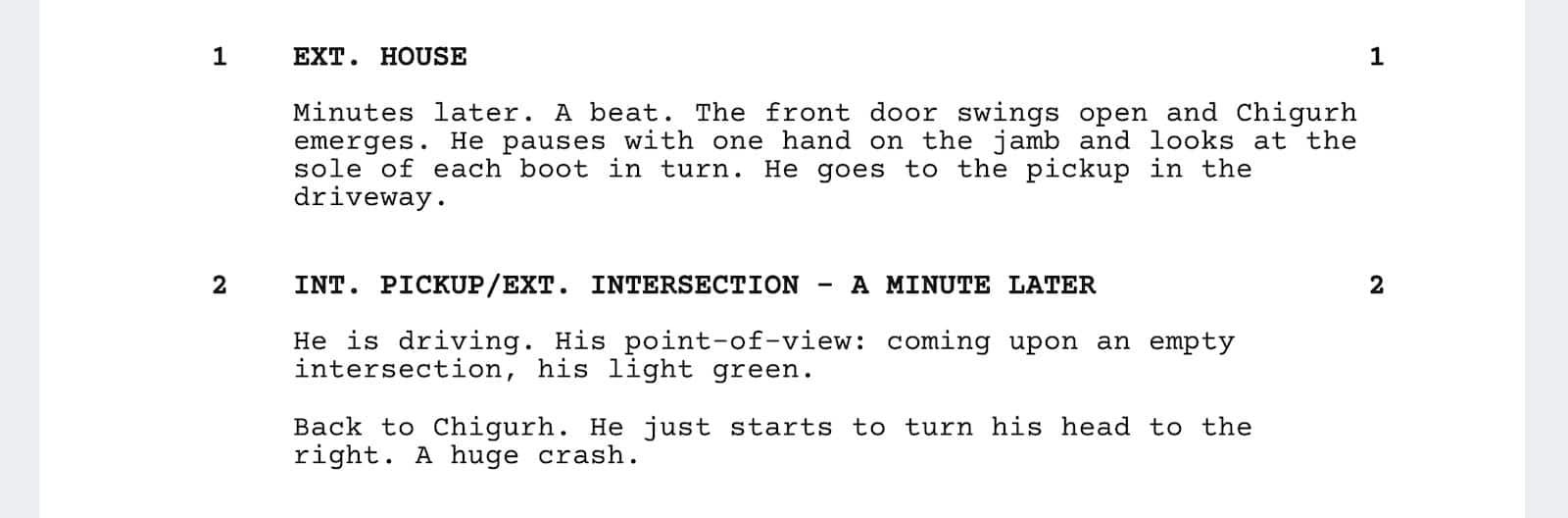 No Country for Old Men Script Teardown - Ending 1 - StudioBinder