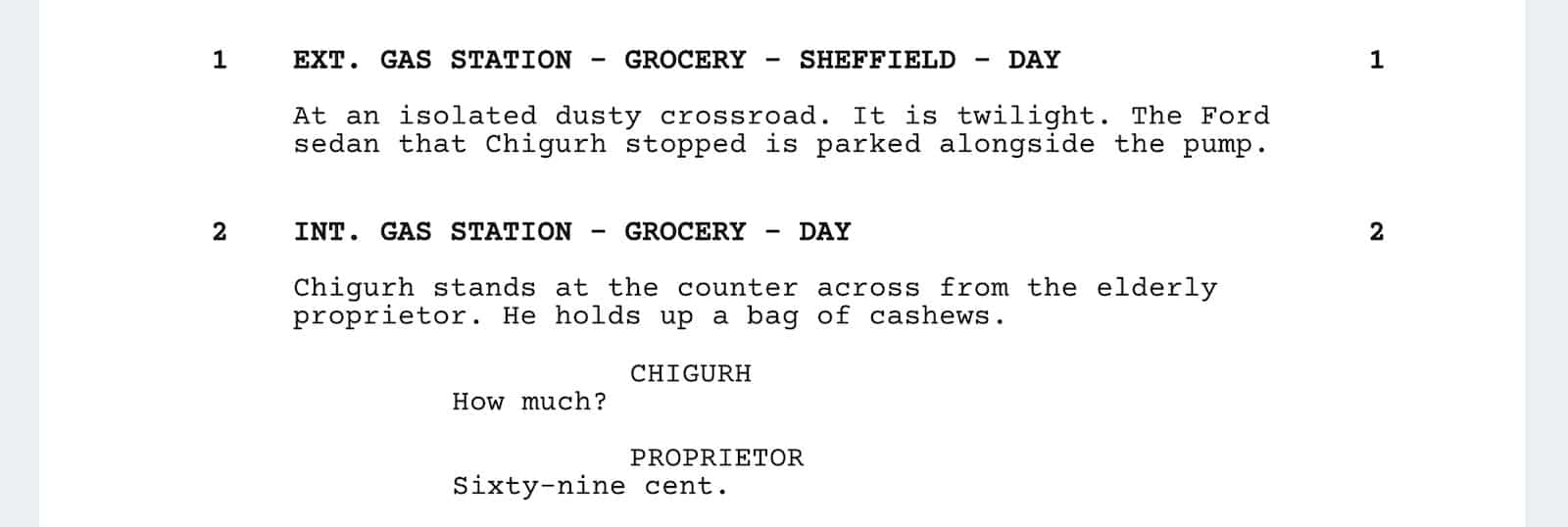 No Country for Old Men Script Teardown - Quotes 1 - StudioBinder