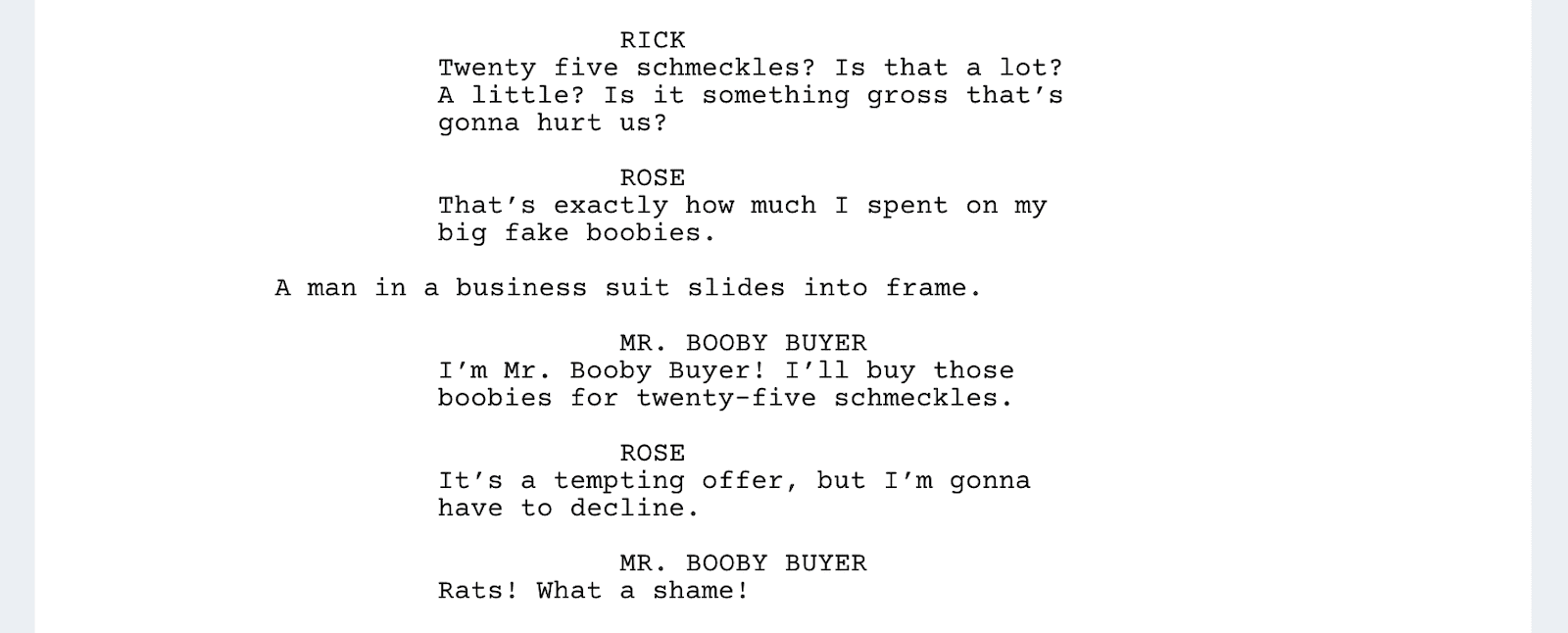 Rick and Morty Script - Schmeckles - StudioBinder