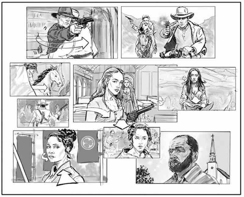Storyboard Examples - Westworld - Dan Caplan - StudioBinder-min