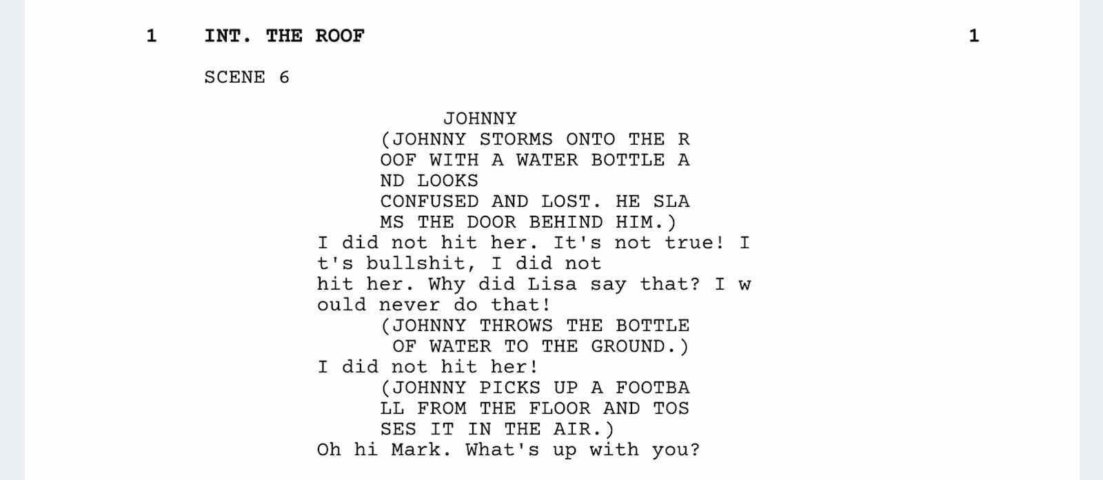 The Room Script Teardown - Roof Scene - StudioBinder