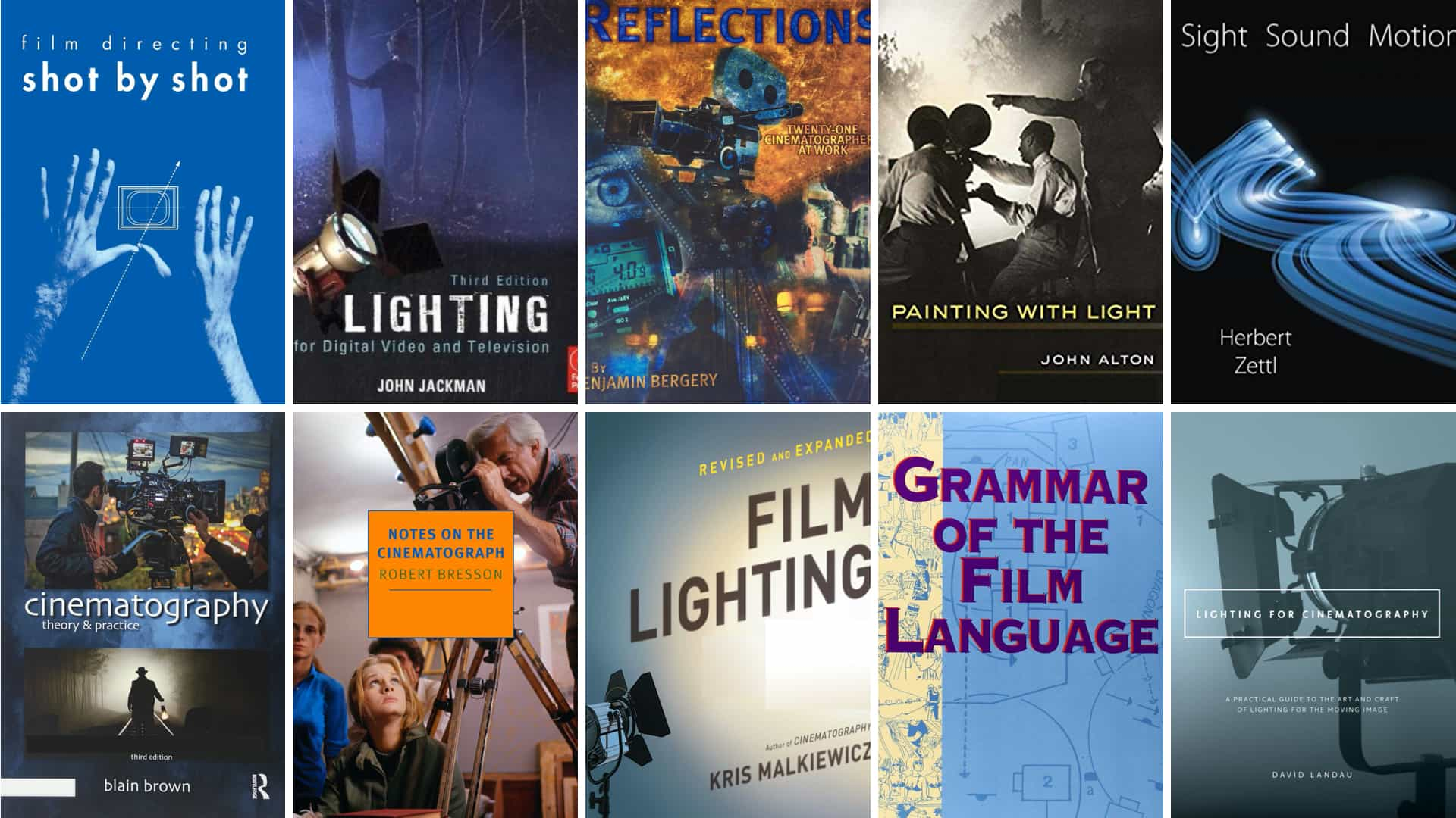 Cinematography Books - Featured - StudioBinder