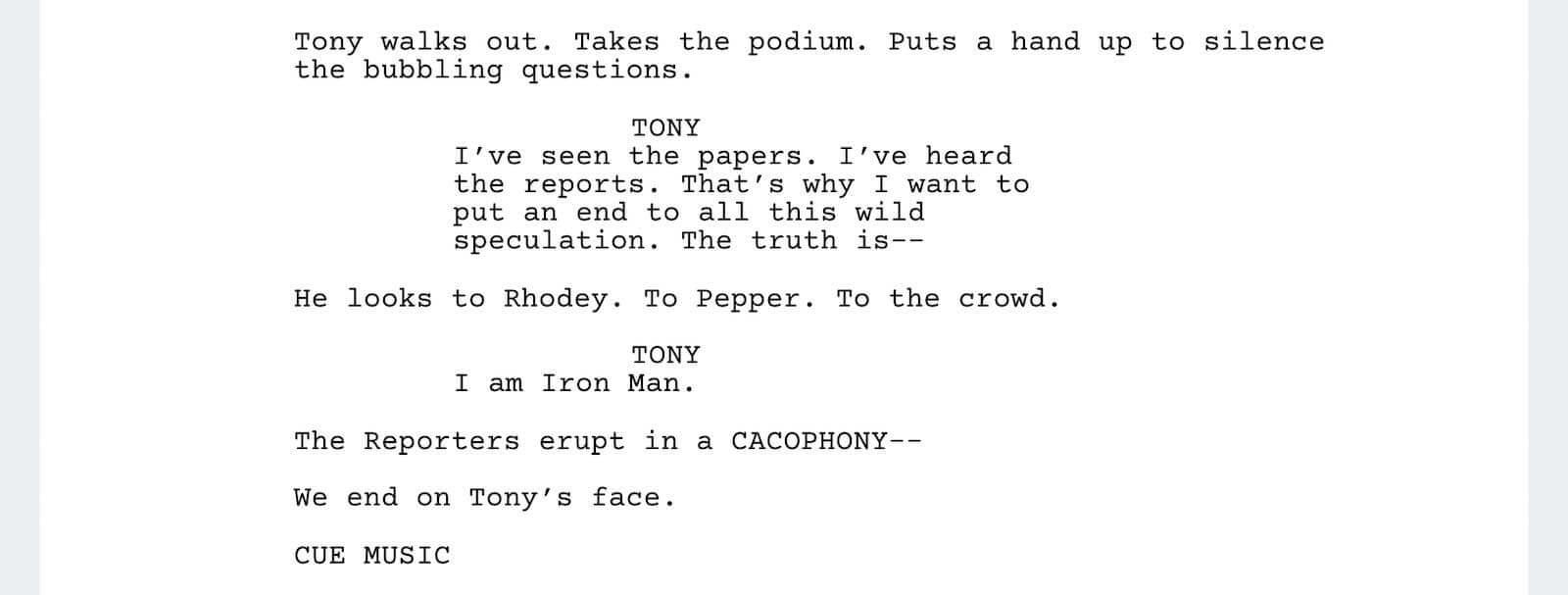 Iron Man Script Teardown - Ending - StudioBinder
