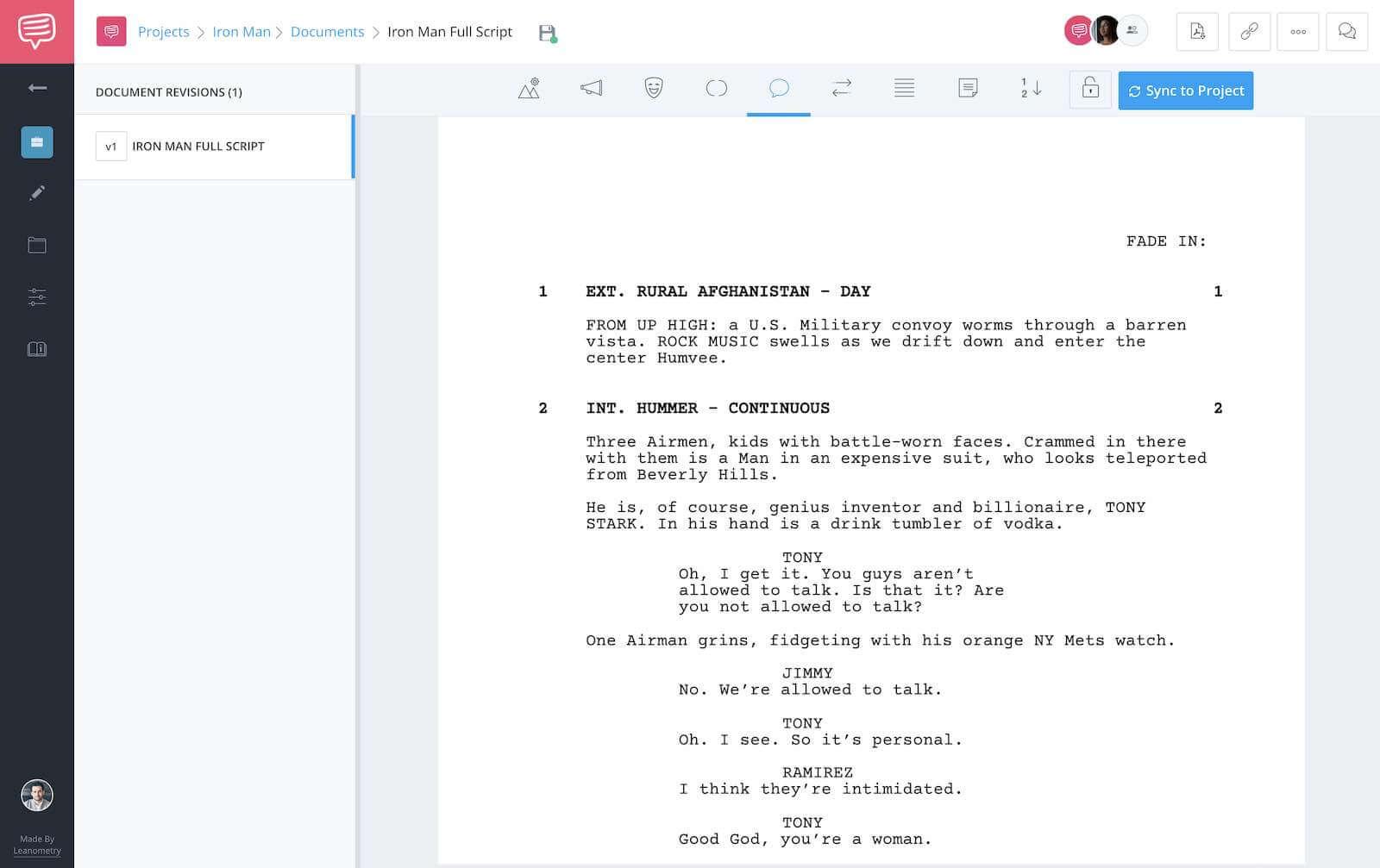 Iron Man Script Teardown - Full Script - StudioBinder