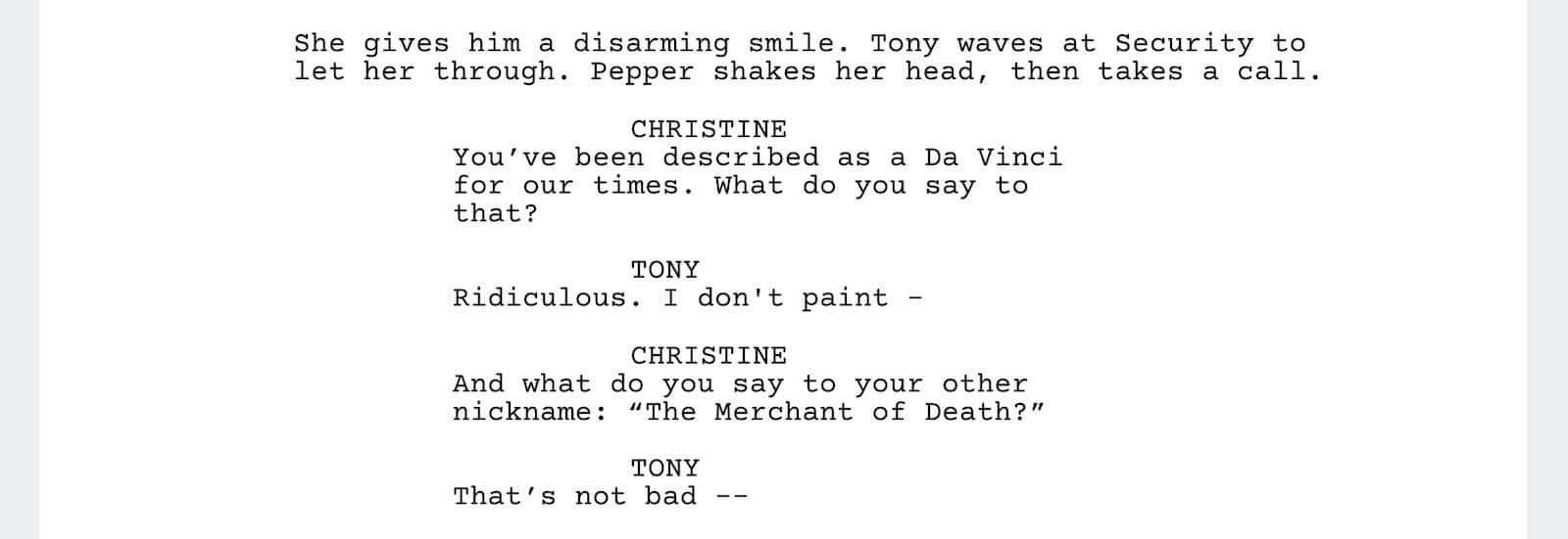 Iron Man Script Teardown - Quotes - StudioBinder