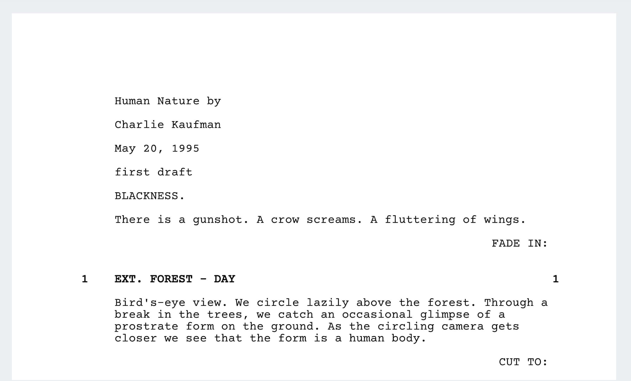 Best Charlie Kaufman Movies - Human Nature - StudioBinder