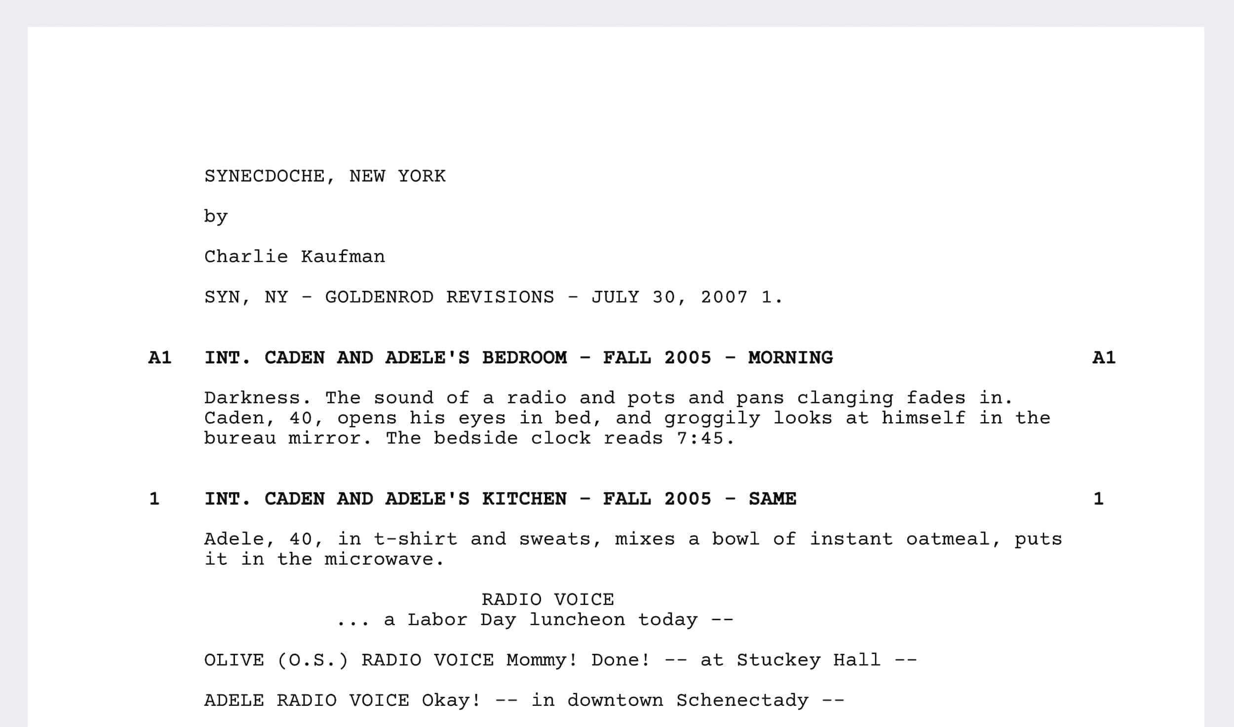 Best Charlie Kaufman Movies - Synedoche New York - StudioBinder