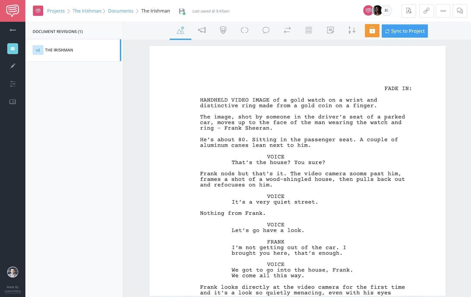 The Irishman - Full Script - StudioBinder