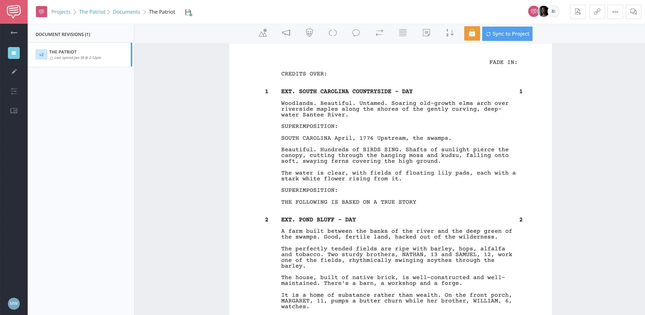 Chekhov's Gun - The Patriot - Full Script - StudioBinder