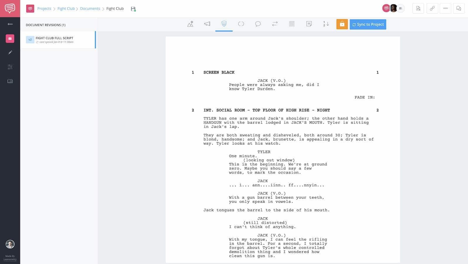 Fight Club Script Breakdown - Full Script - StudioBinder