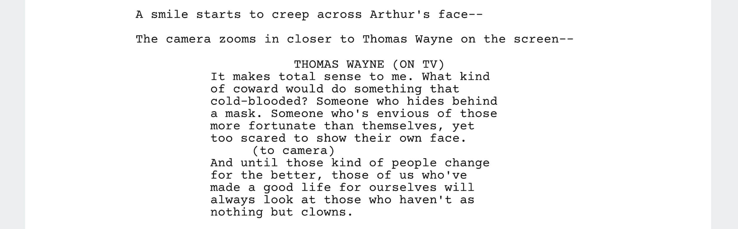 Joker Script Screenplay PDF Download - Joker Quotes - StudioBinder Screenwriting Software