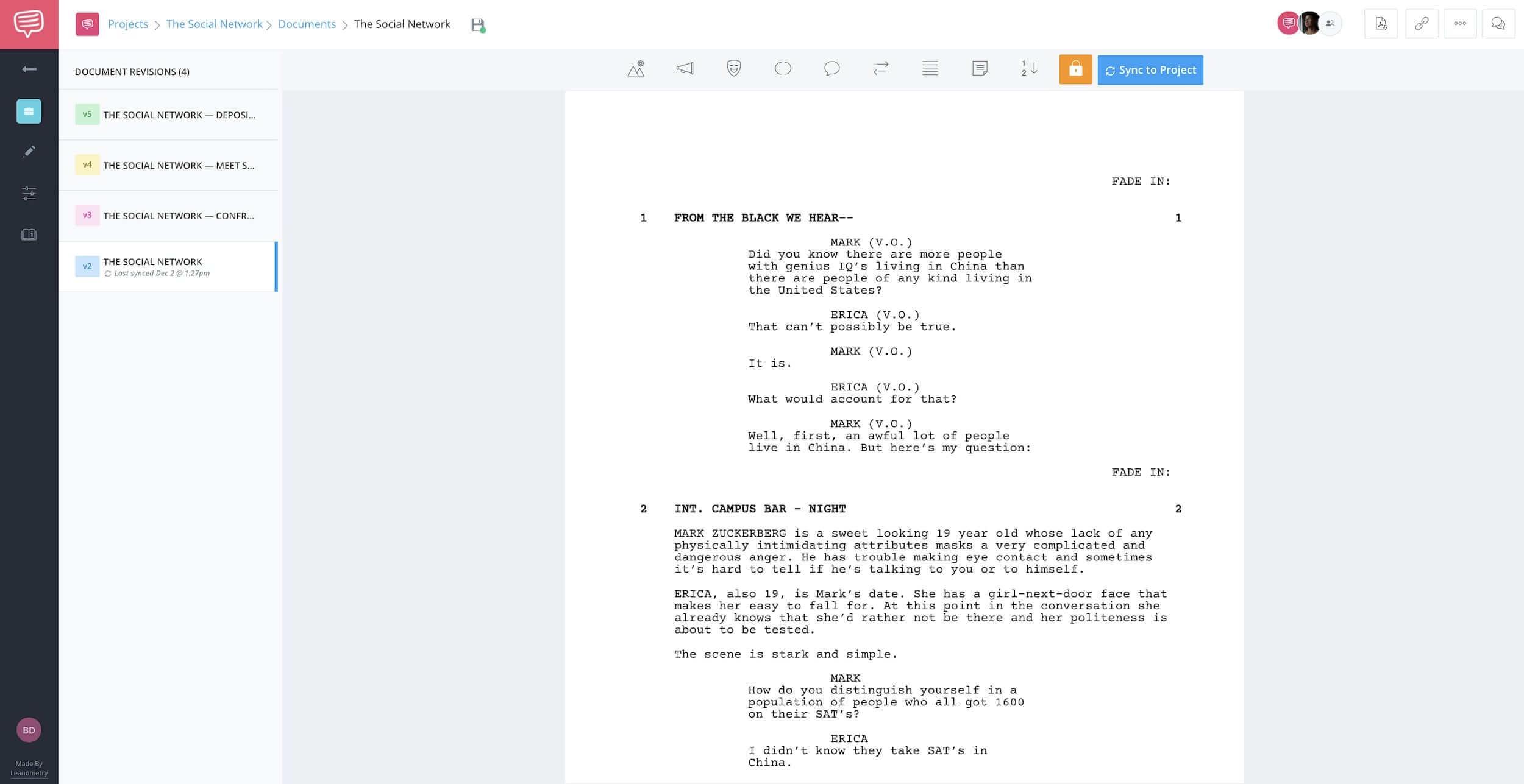 The Social Network Script - Full Script - StudioBinder - Screenwriting Software