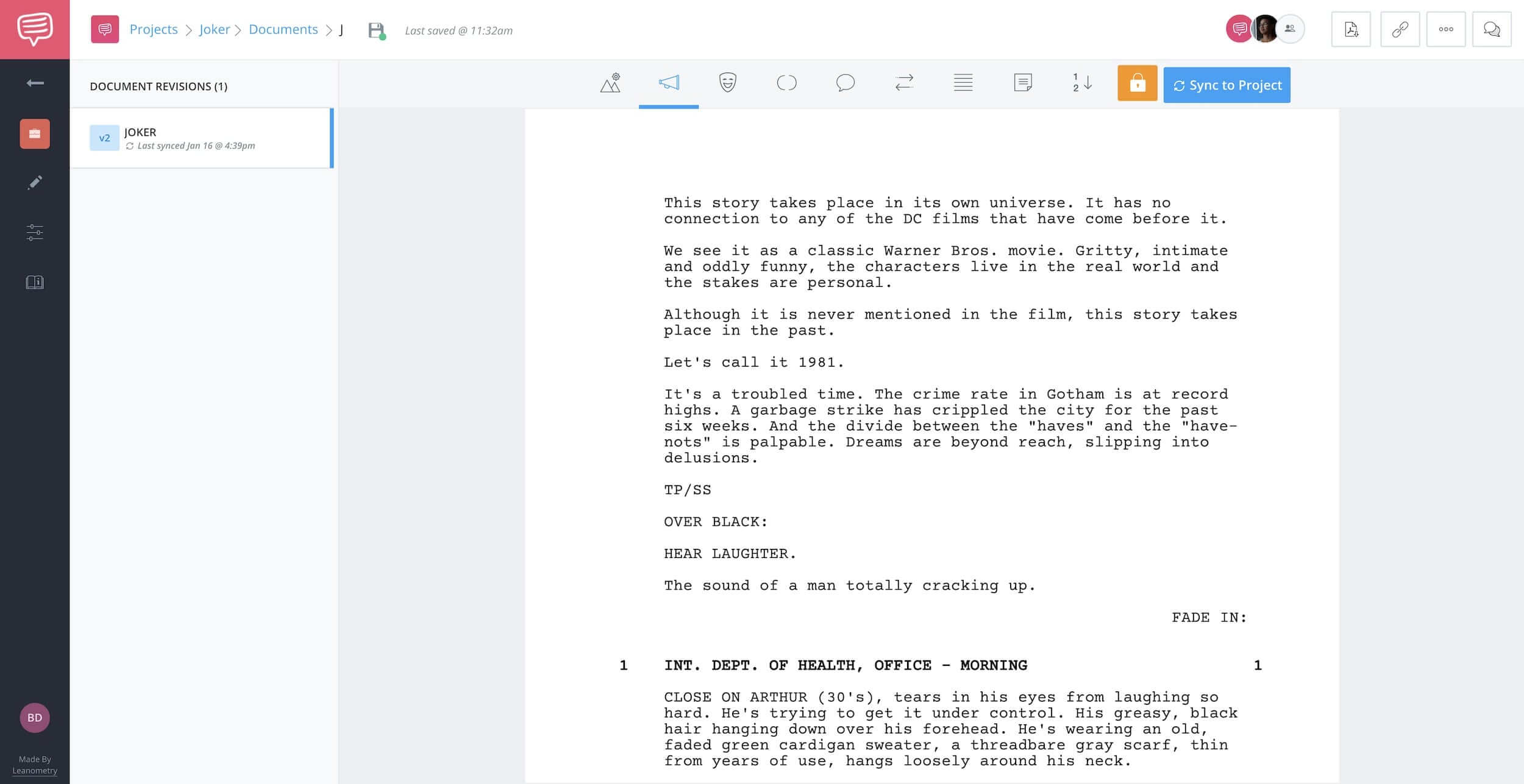 Amazon Storywriter Alternative - Joker - Screenplay - StudioBinder Screenwriting Software