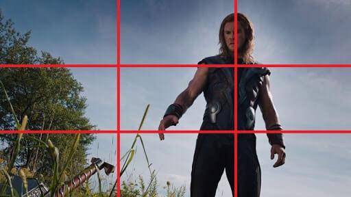Rule of Thirds - Thor Hammer - StudioBinder