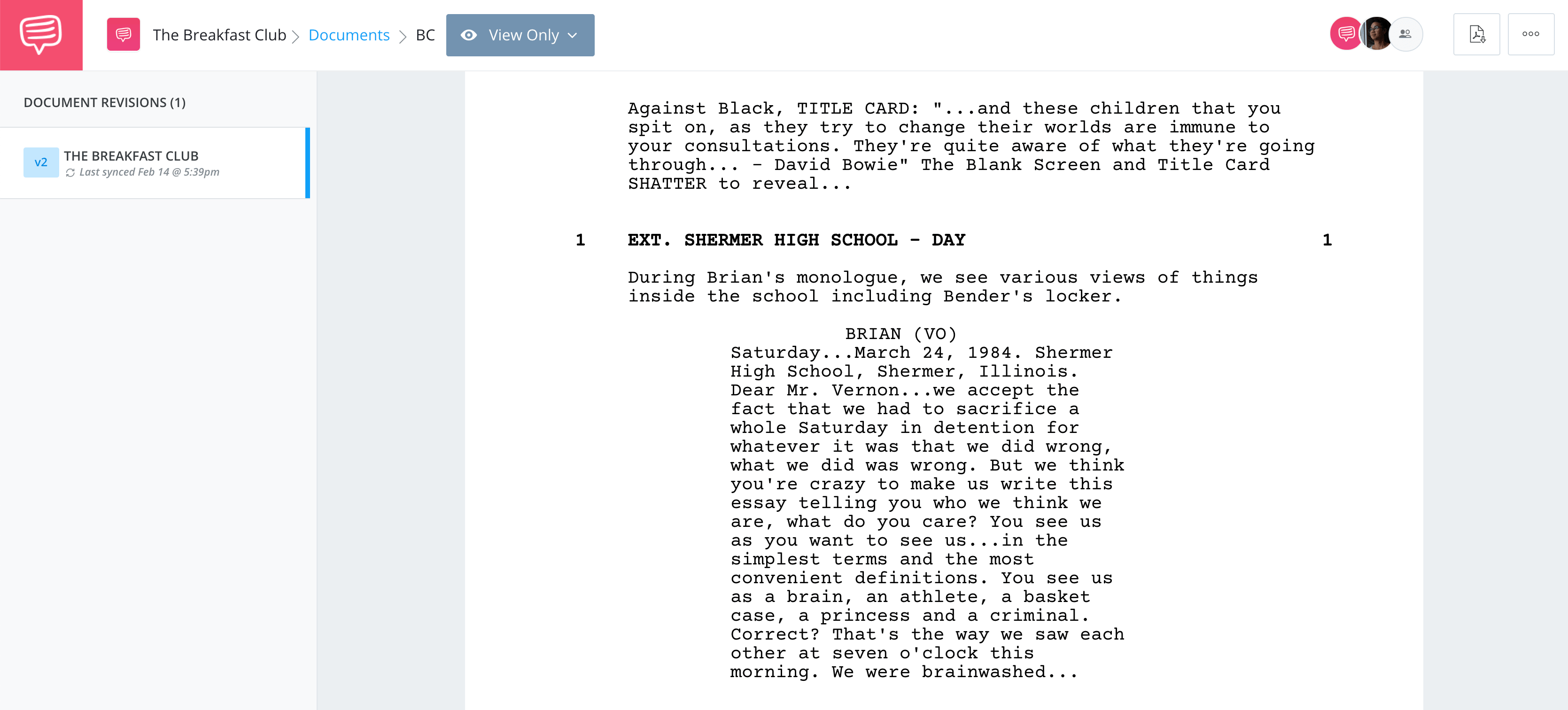 The Breakfast Club Script Screenplay - Complete Script - StudioBinder