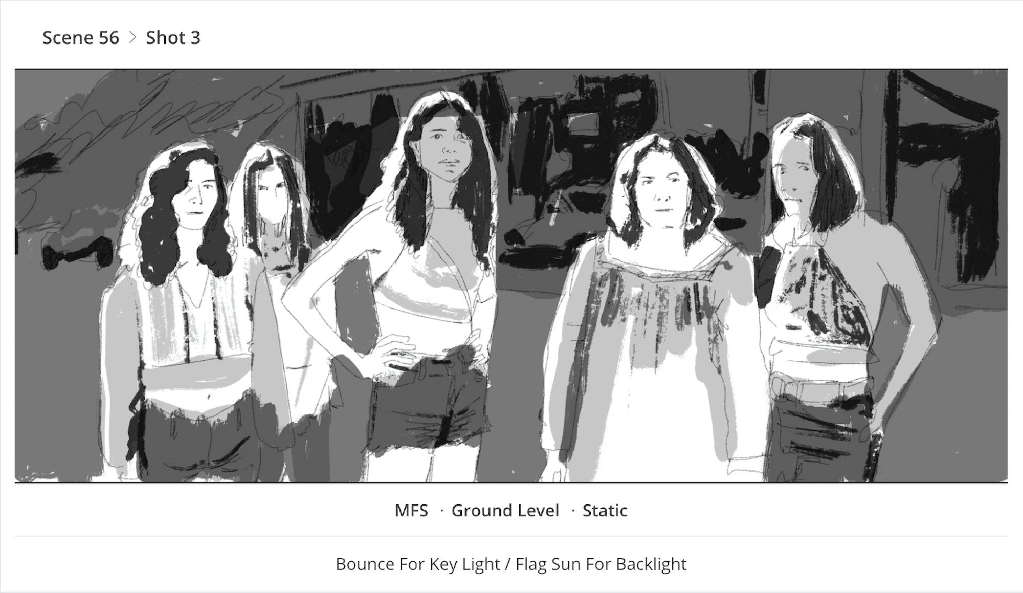 3 Point Lighting Guide - Once Upon a Time in Hollywood - Hippie Group Storyboard - StudioBinder