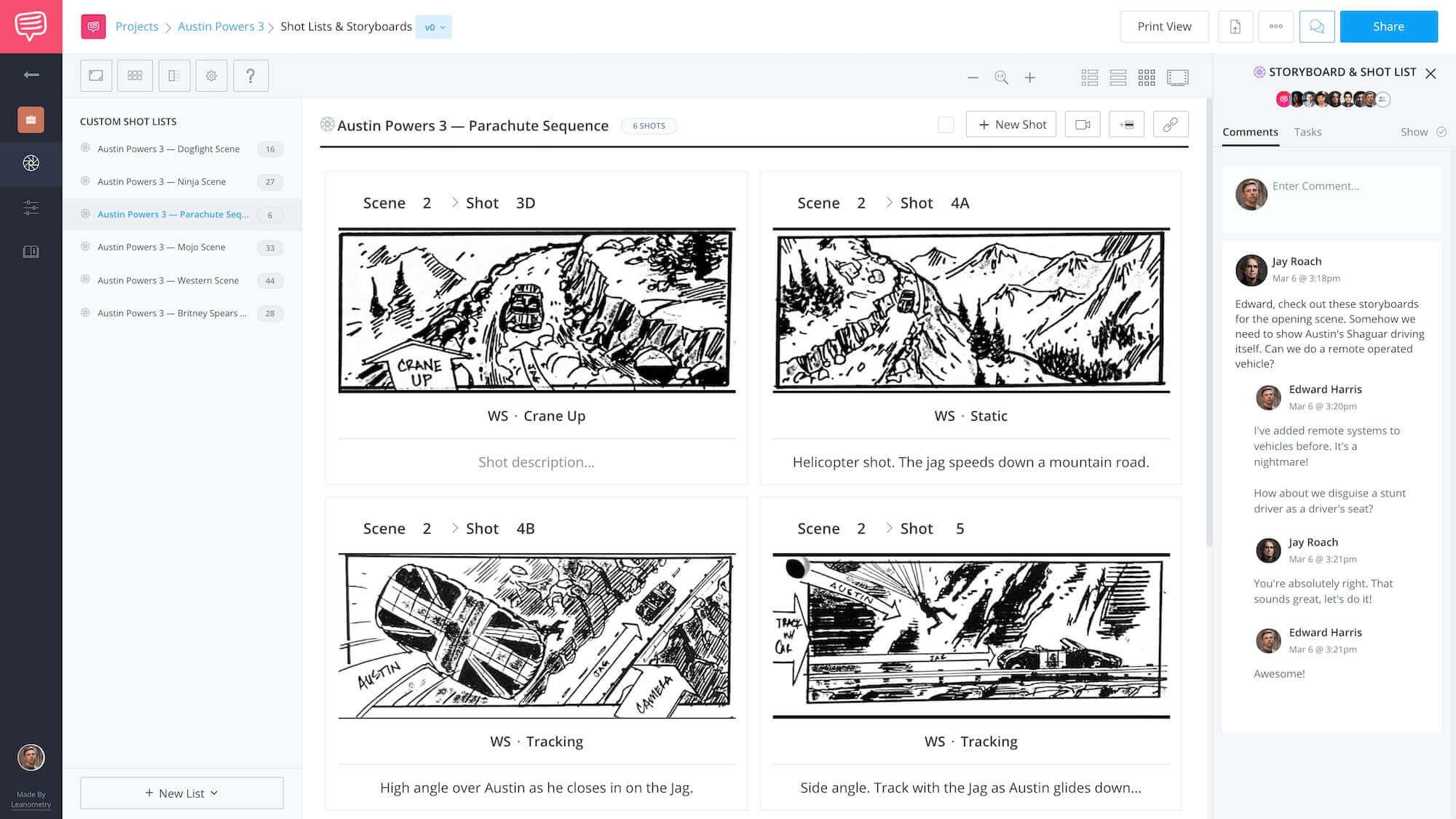 Austin Powers 3 - Seat Double Comments Feature App Tie-In - StudioBinder