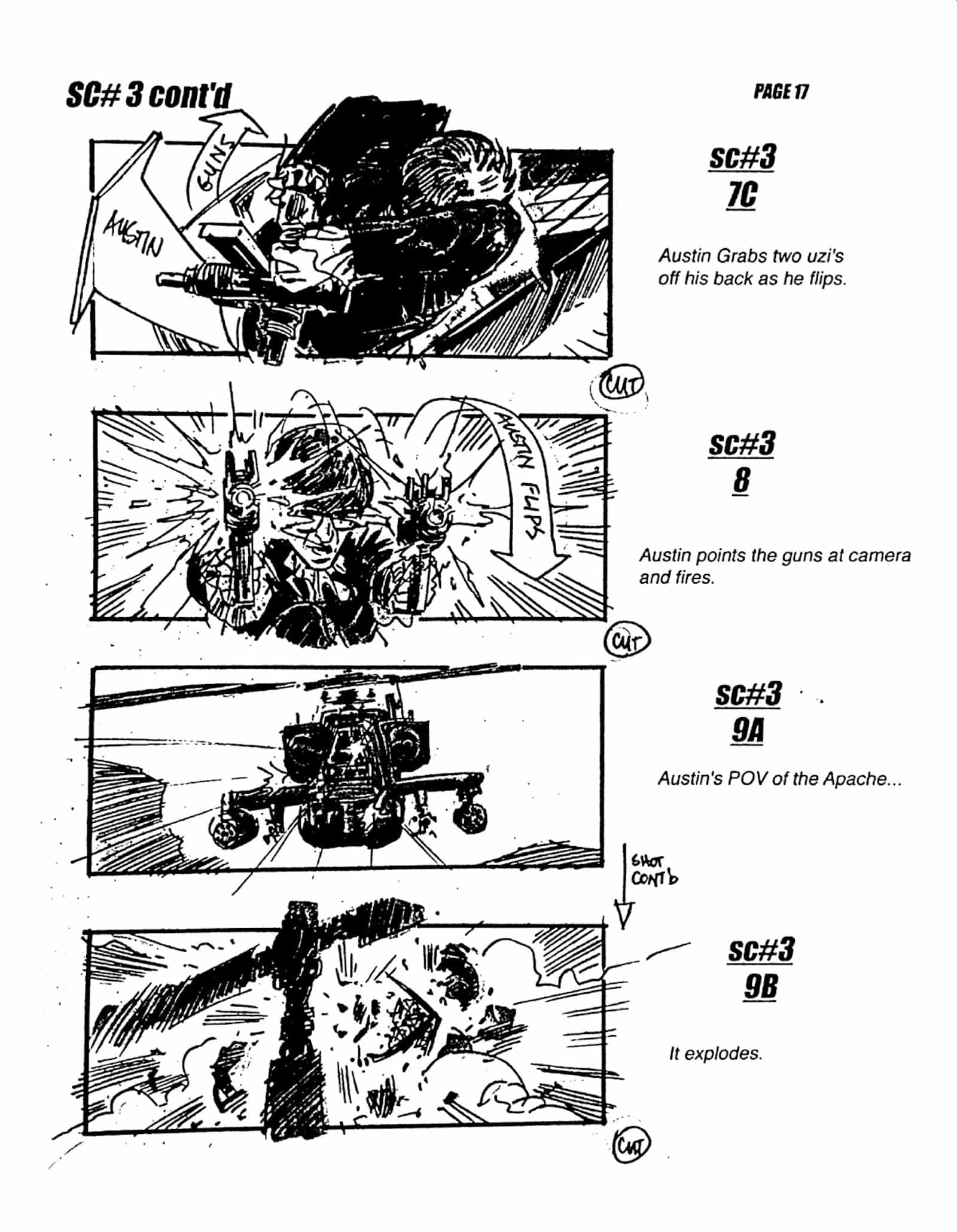 Storyboards - Austin Powers in Goldmember - Scene#1 Pages 17