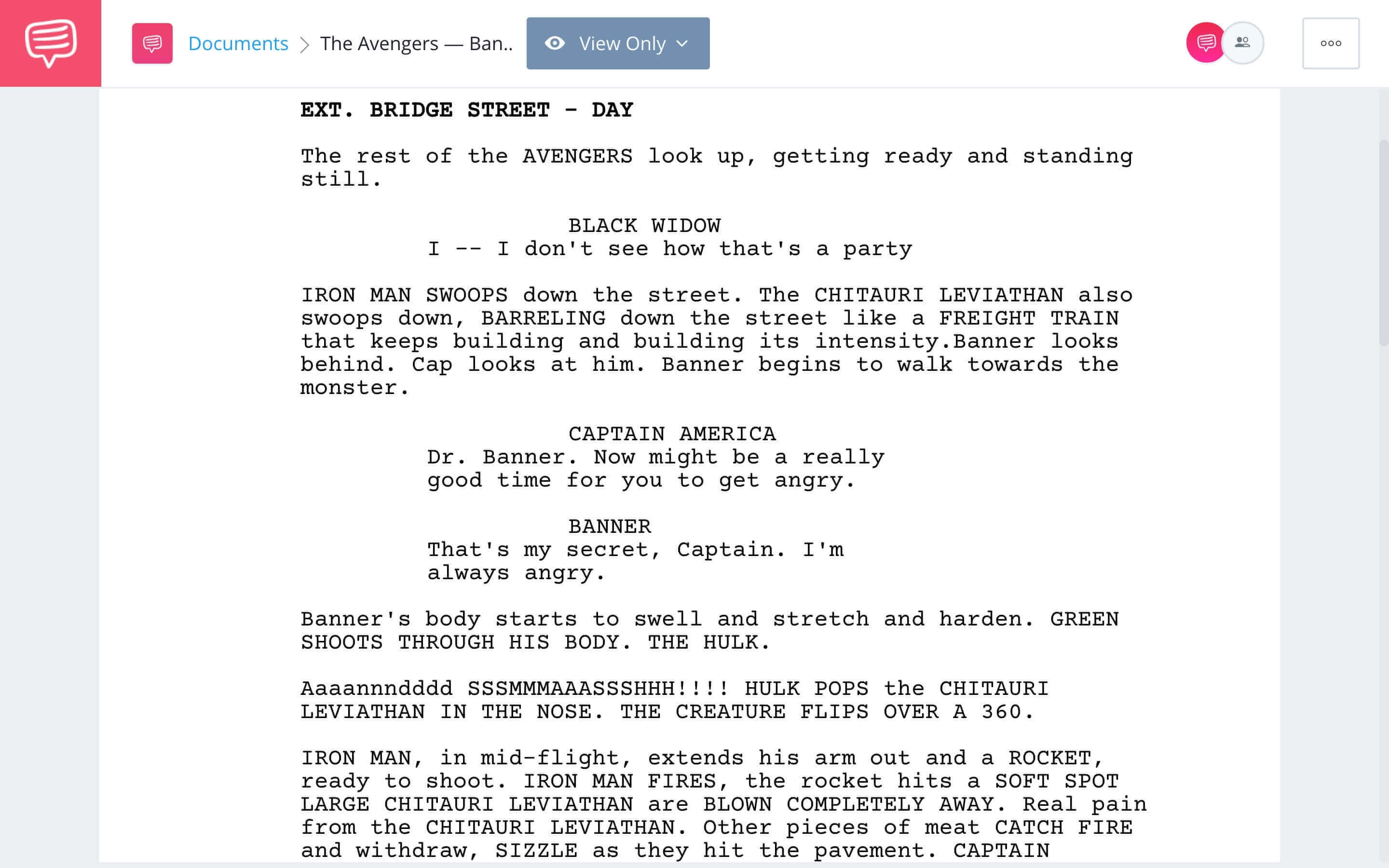 The Avengers Script Teardown - Banner's Secret Scene Download App Tie-In - StudioBinder