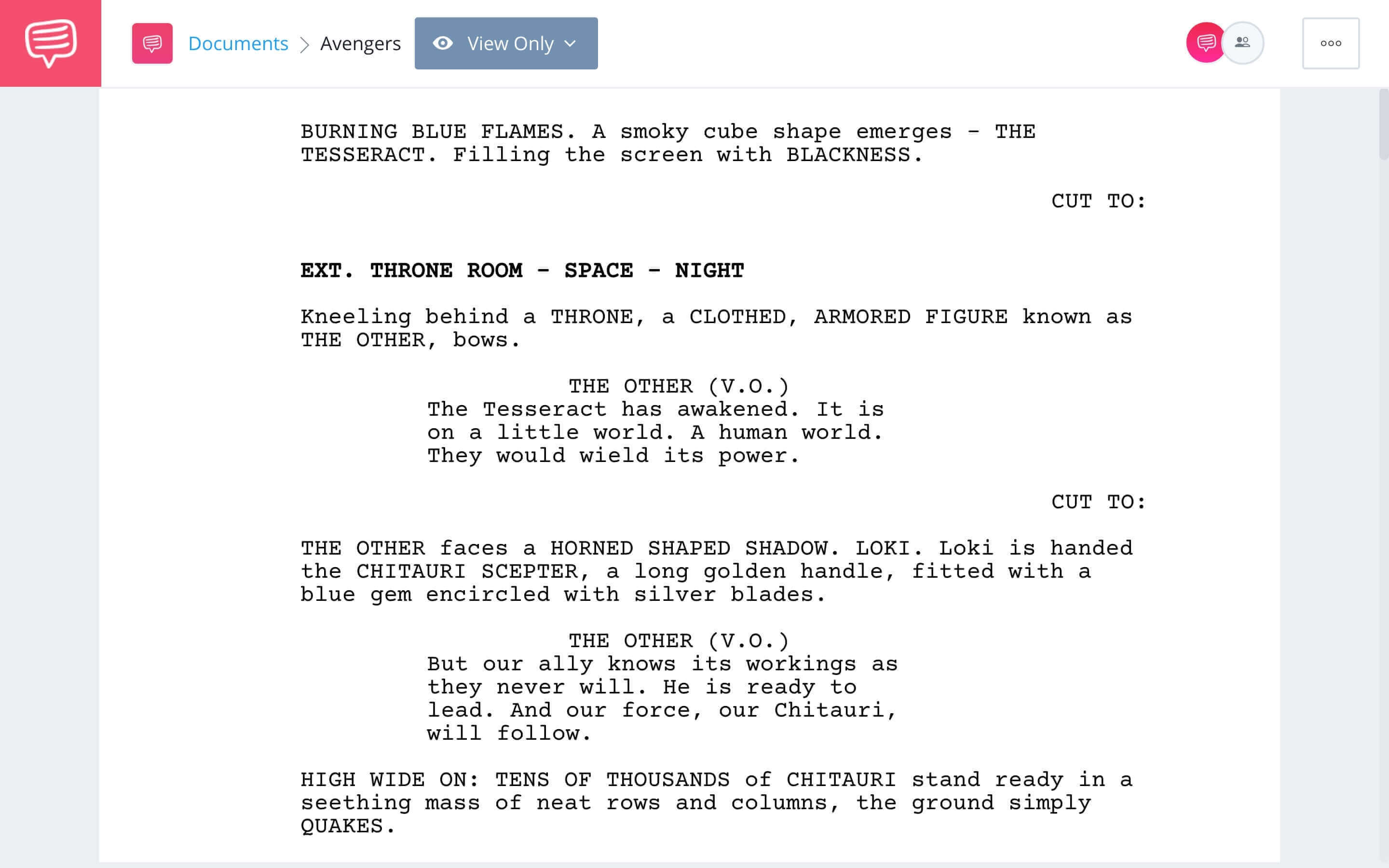 The Avengers Script Teardown - Full Script Download App Tie-In - StudioBinder