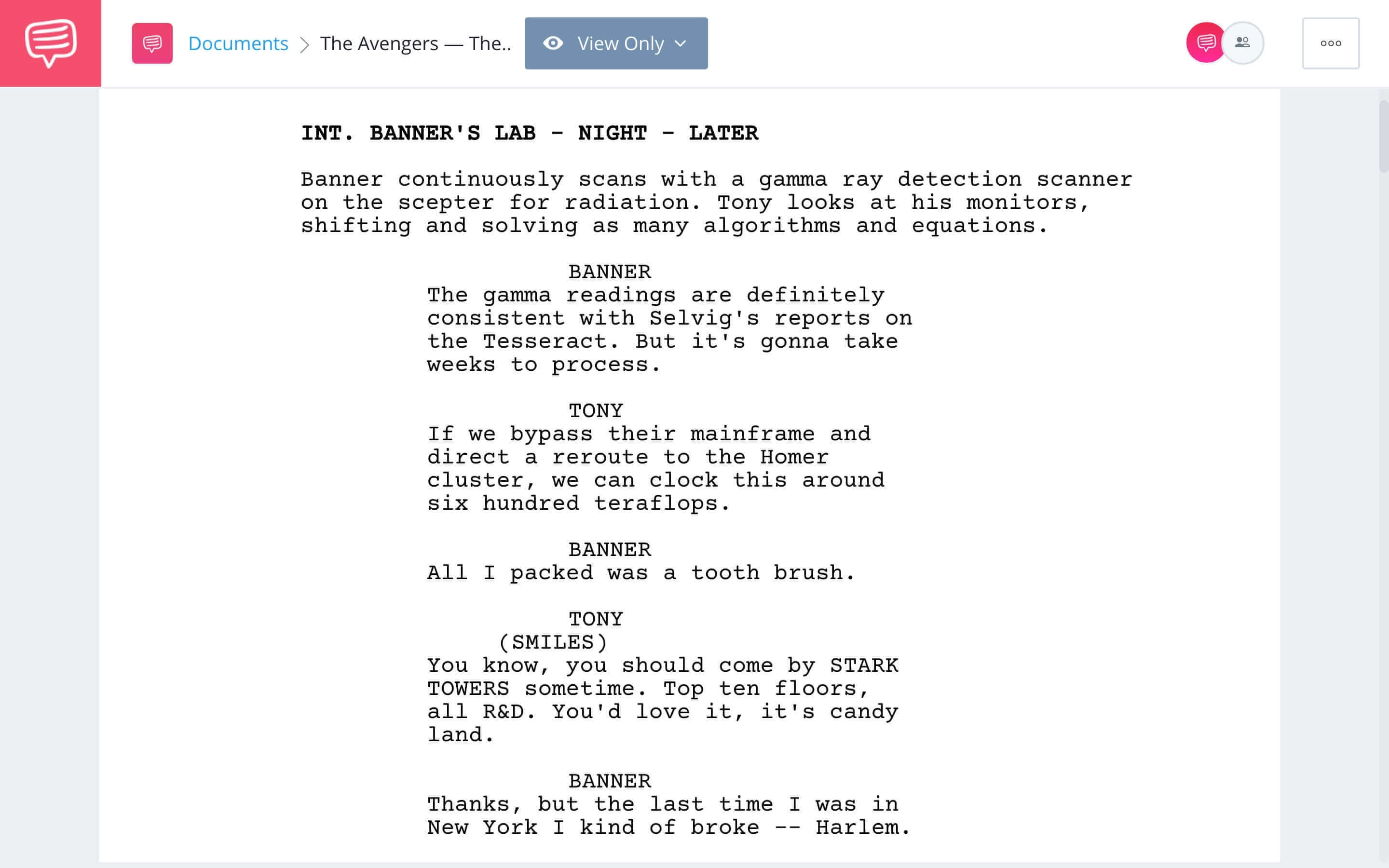 The Avengers Script Teardown - The Greater Good Scene Download App Tie-In - StudioBinder