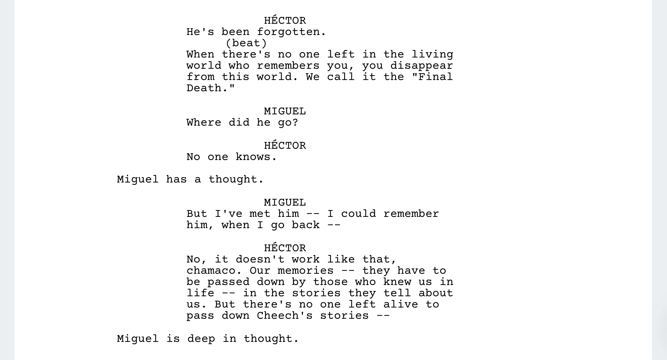 Coco Script Screenplay PDF Download - Miguel Learns the Rules of the Land of the Dead - StudioBinder Screenwriting Software