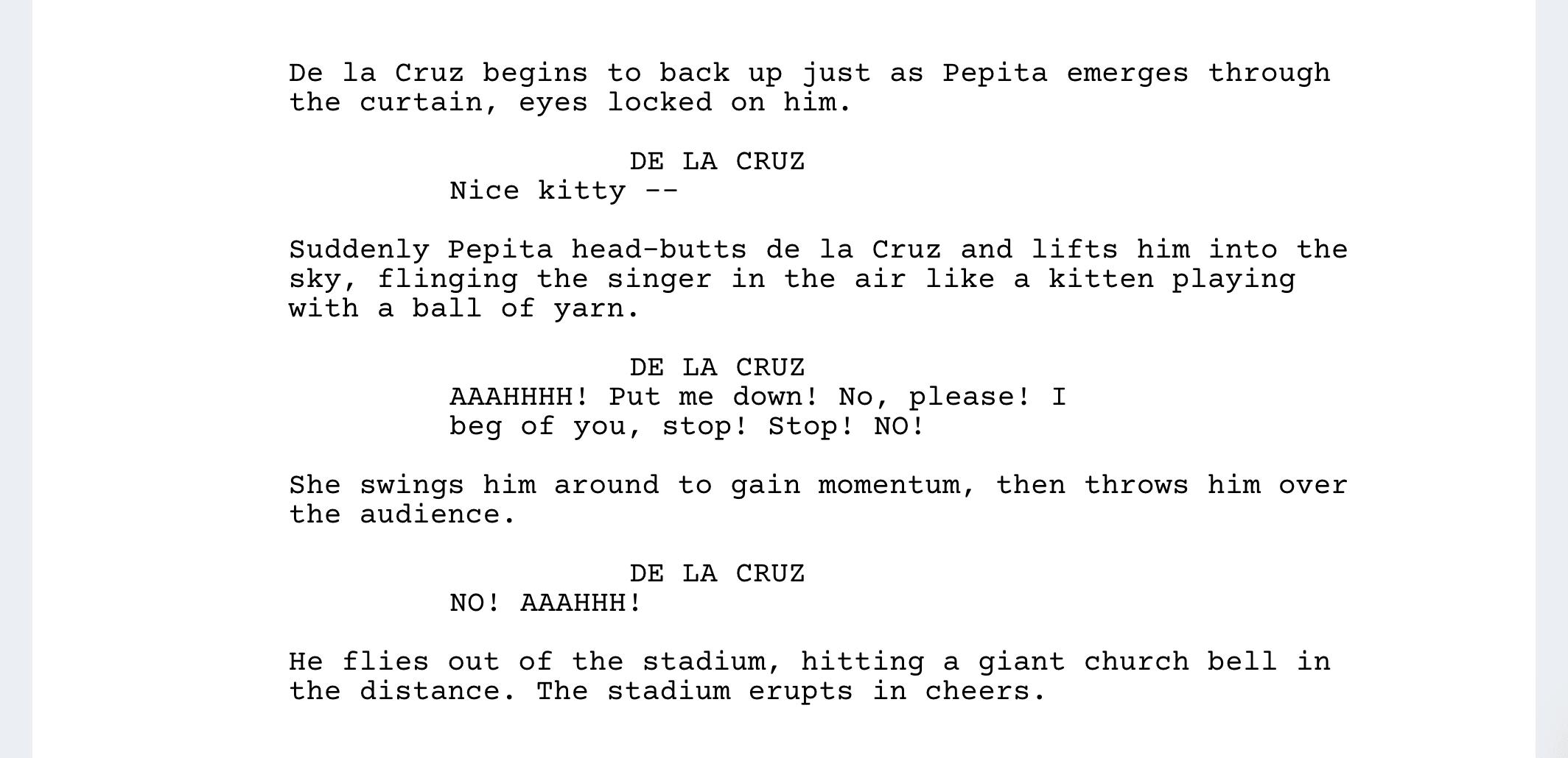 Coco Script Screenplay PDF Download - Pepita Attacks Ernesto - StudioBinder Screenwriting Software