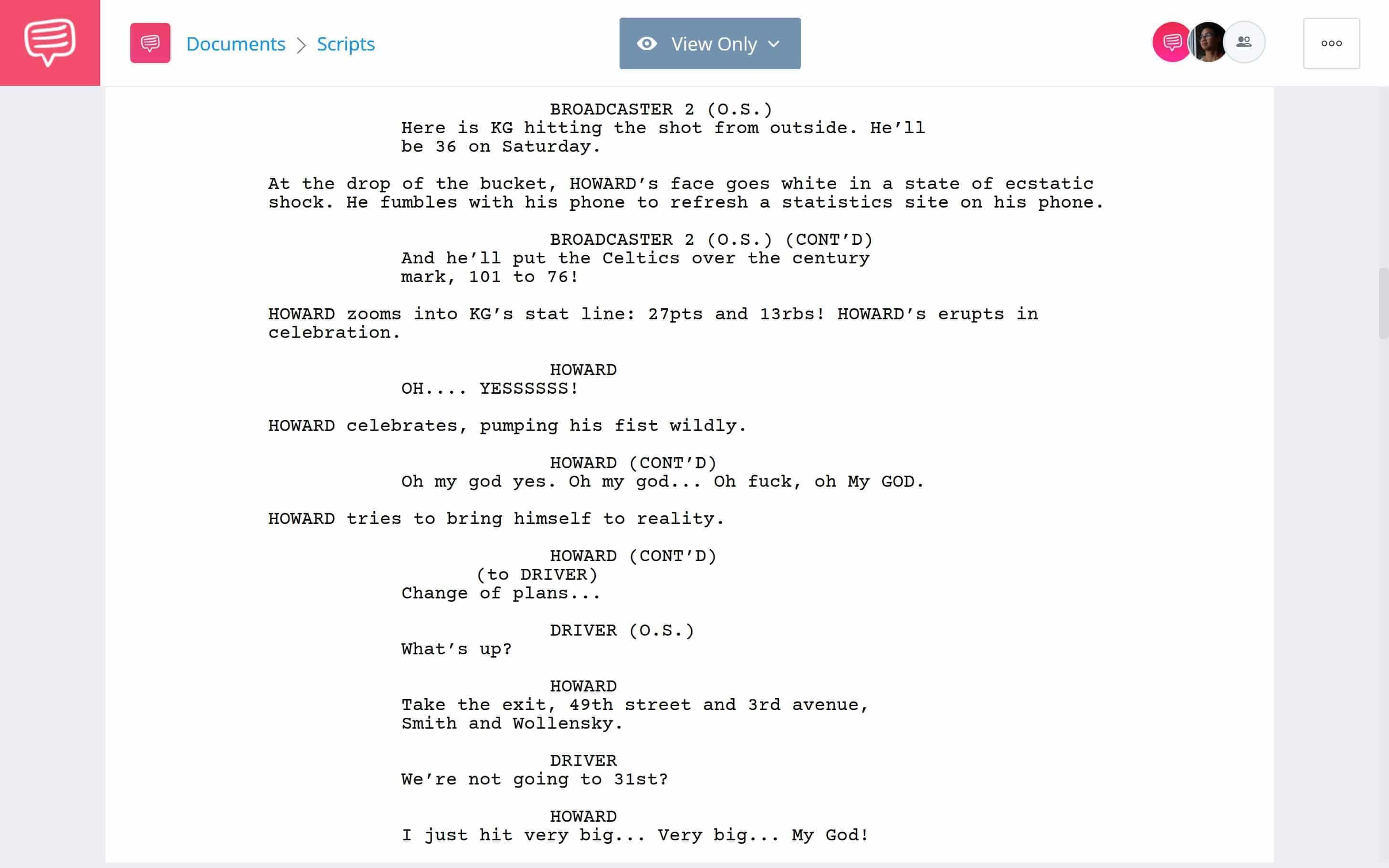 Creative Examples of Writing Fiction Based on True Events - Garnett Court Domination Scene Download App Tie-In - StudioBinder