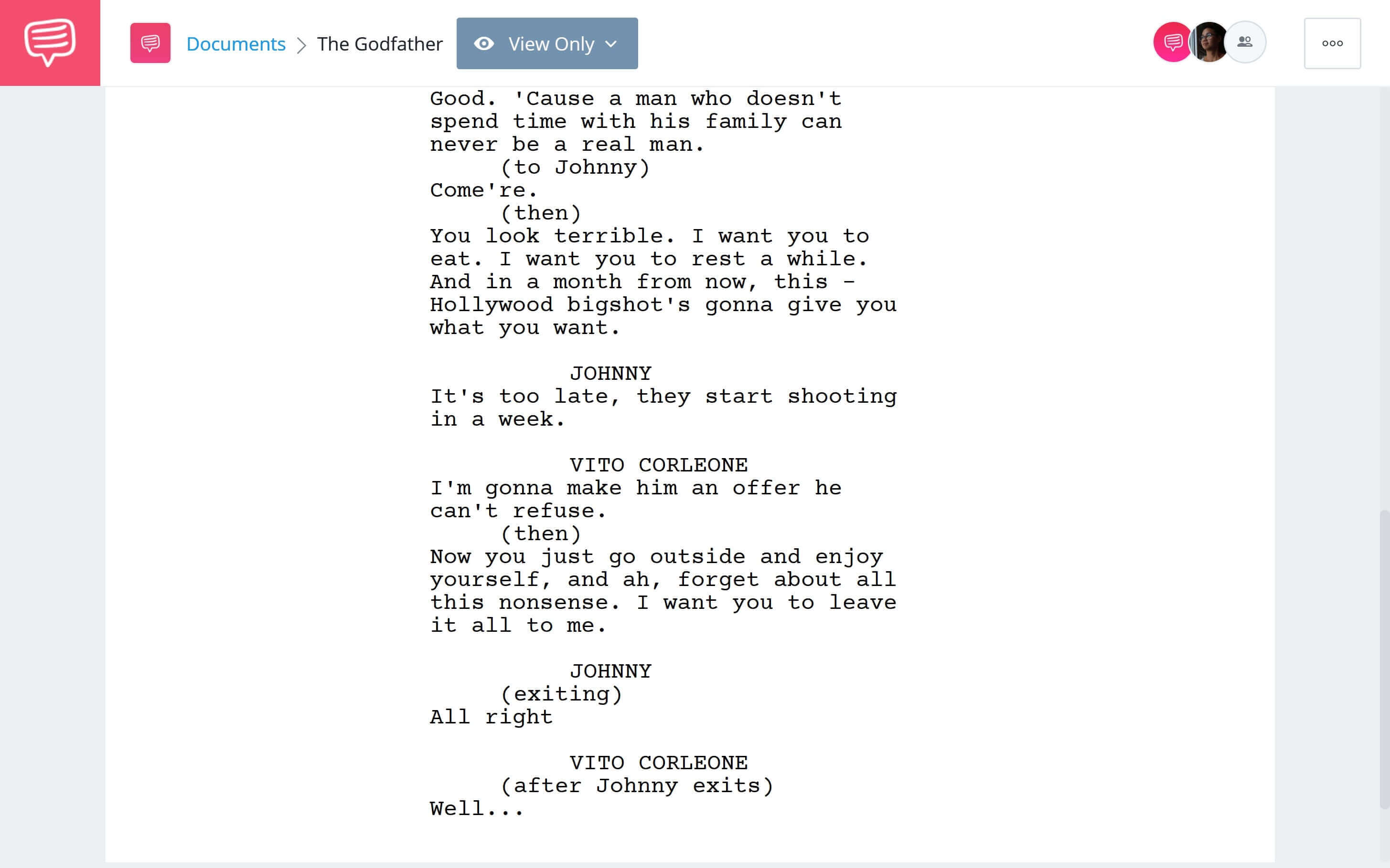 Godfather Script Teardown - An Offer He Can't Refuse Download App Tie-In - StudioBinder