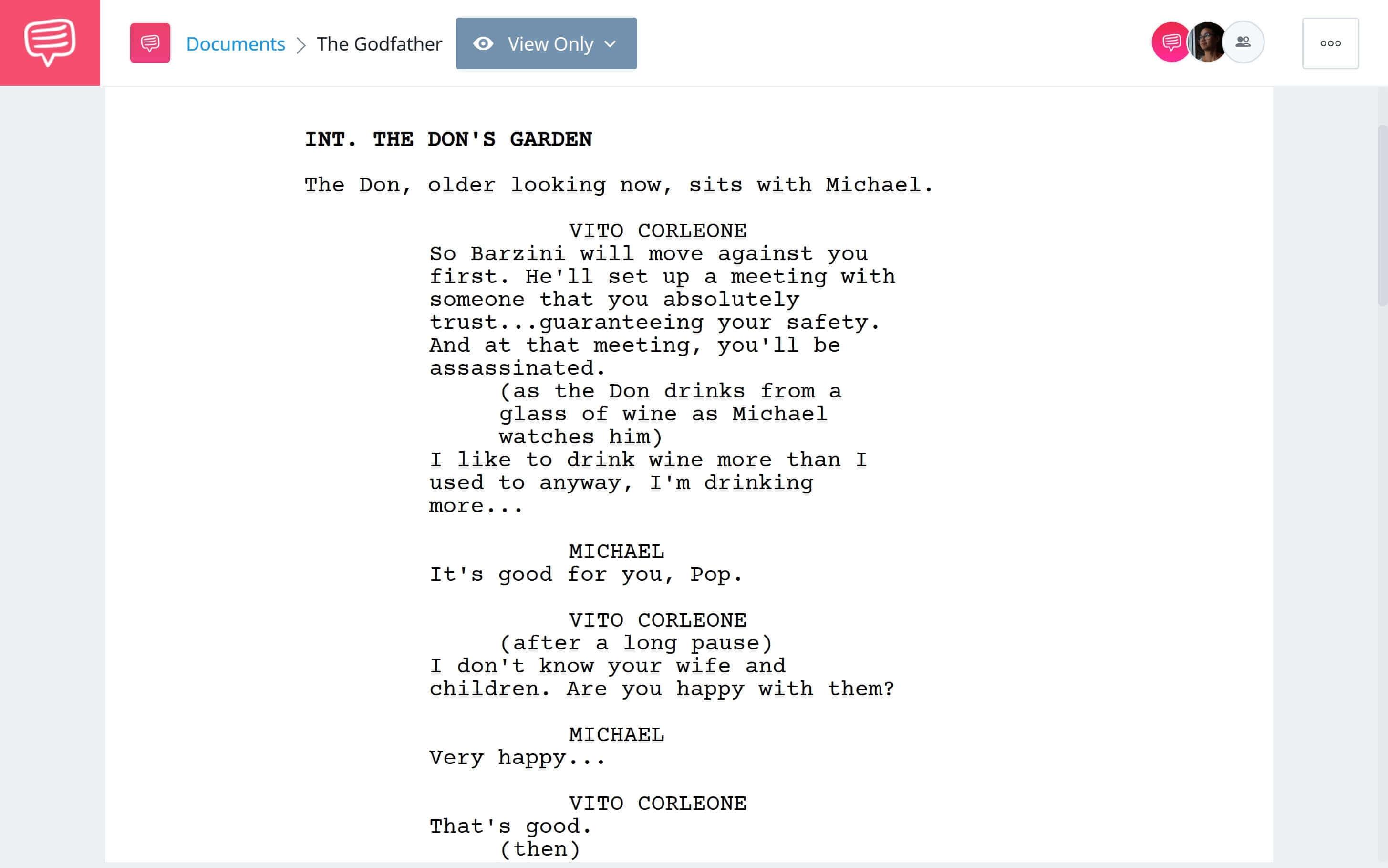 Godfather Script Teardown - Plot Building Download App Tie-In - StudioBinder
