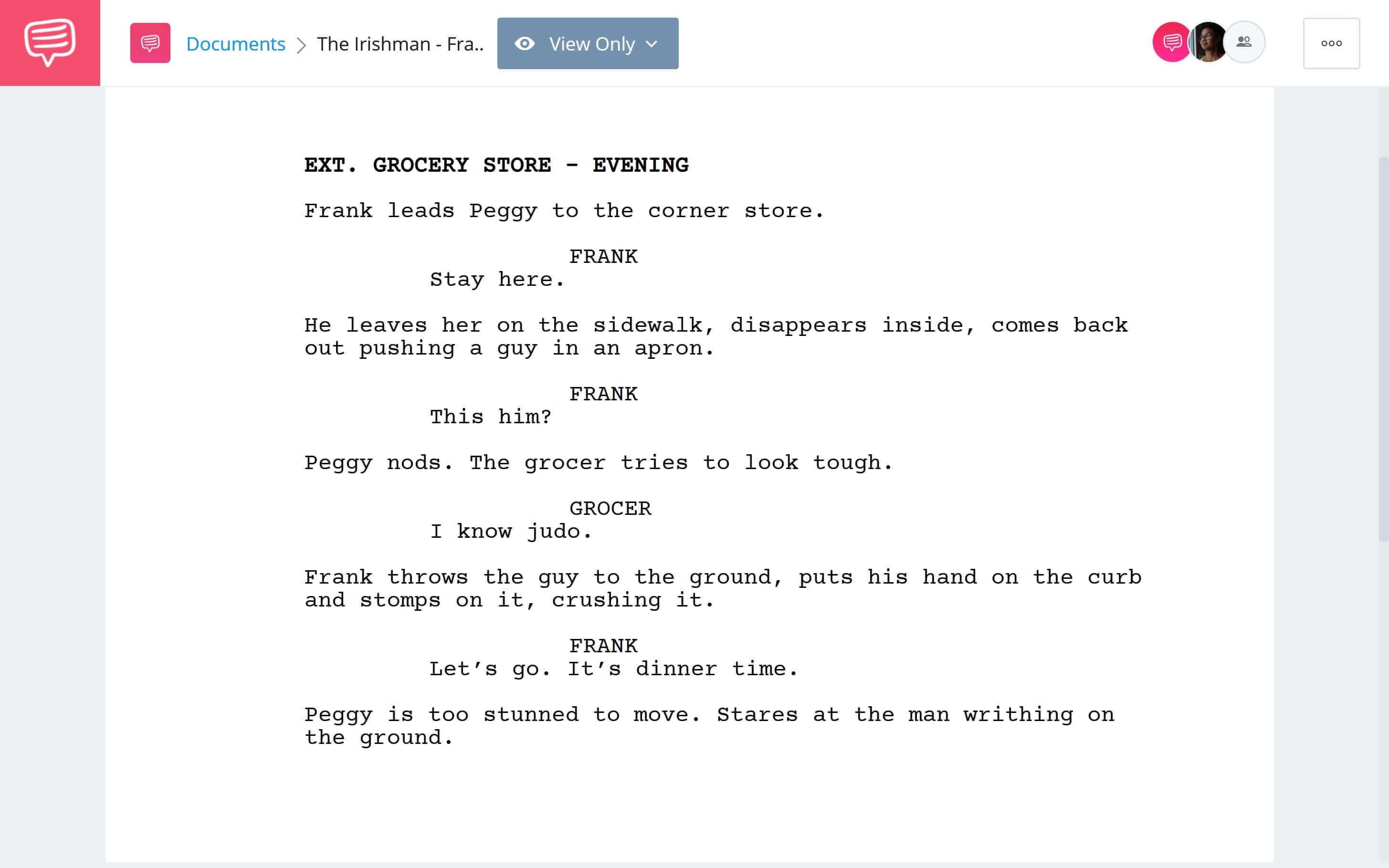 Is Irishman Based on a True Story - Frank Beats Up Shopkeeper Scene Download App Tie-In - StudioBinder