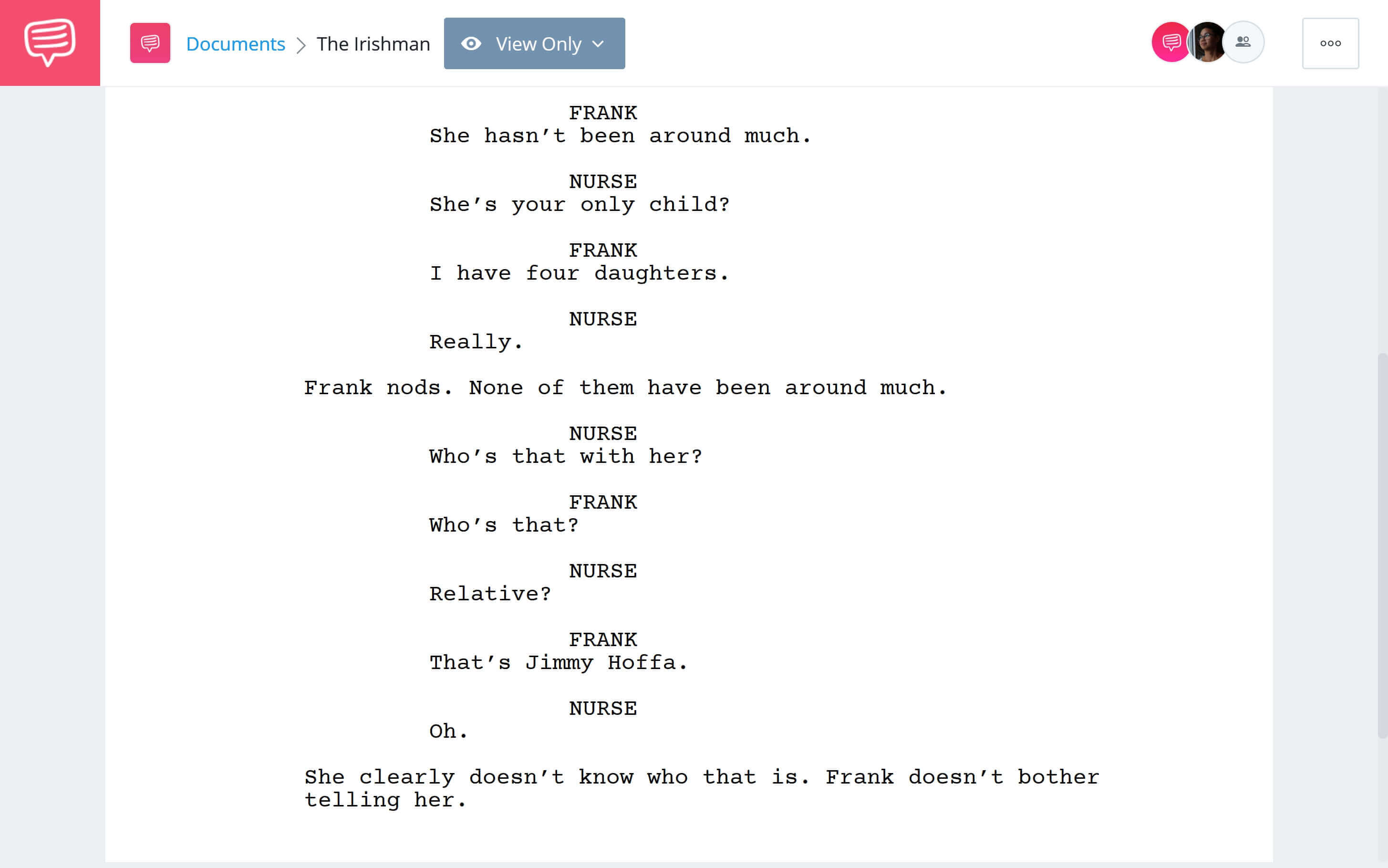 Is Irishman Based on a True Story - That's Jimmy Hoffa Scene Download App Tie-In - StudioBinder