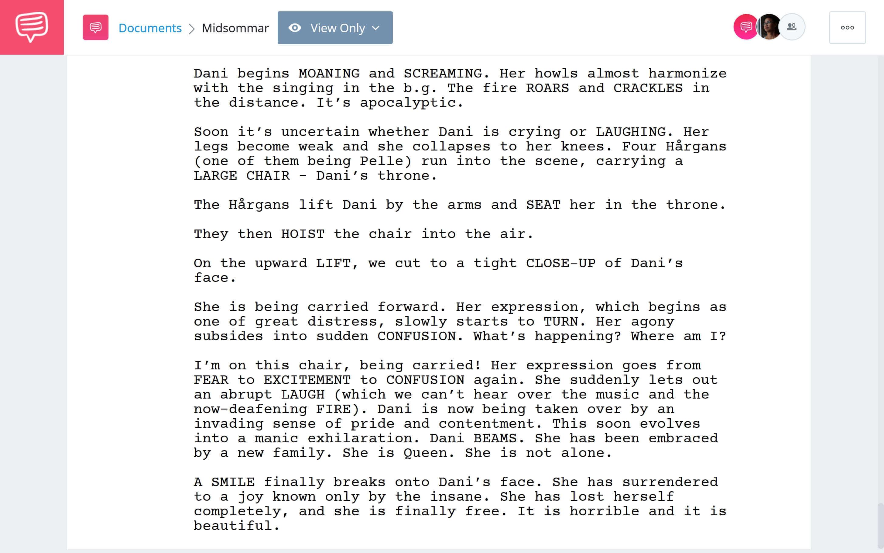 Midsommar Script Teardown - Dani's Final Choice Scene Download App Tie-In - StudioBinder