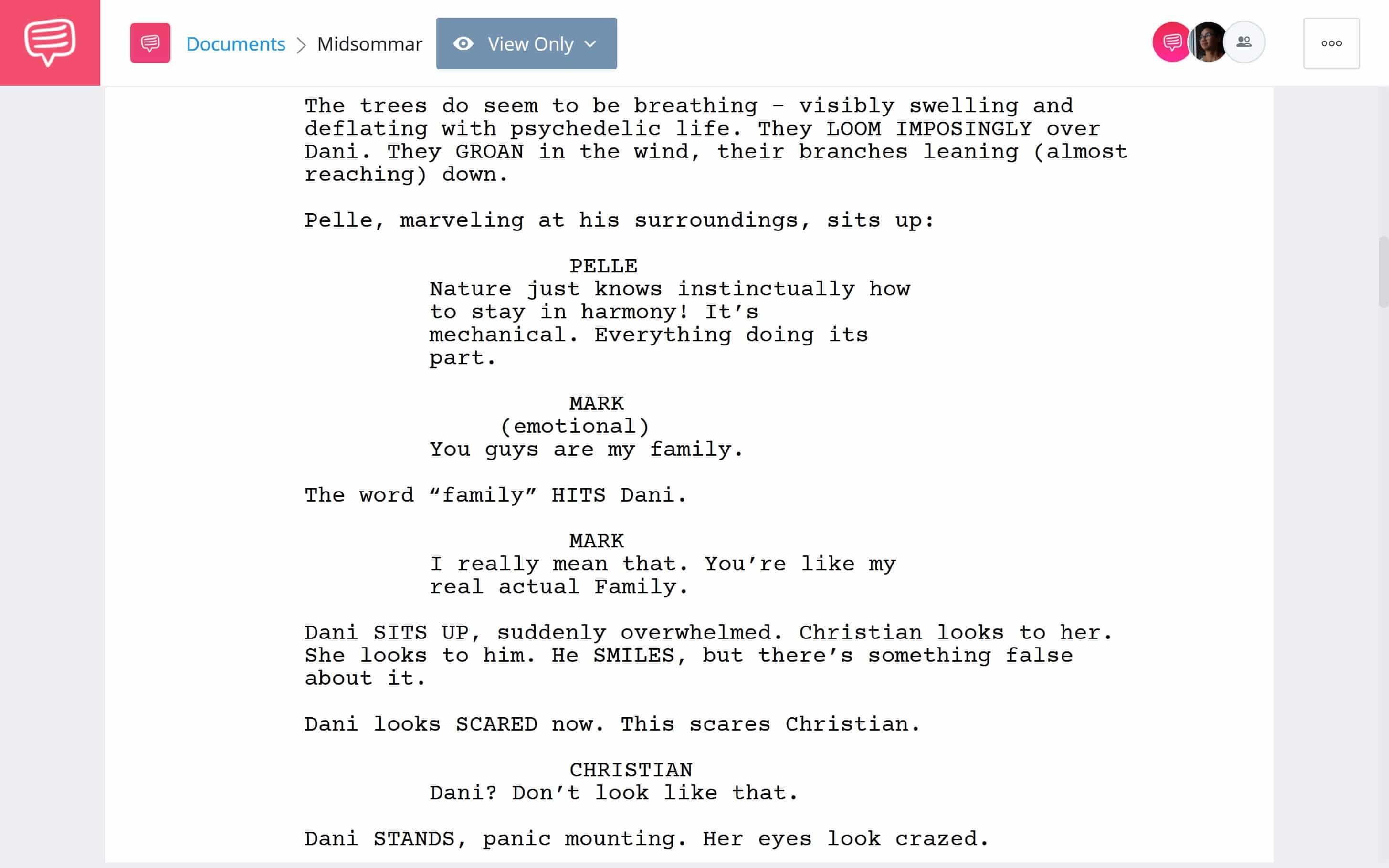 Midsommar Script Teardown - Psychodelic Use Scene Download App Tie-In - StudioBinder (2)
