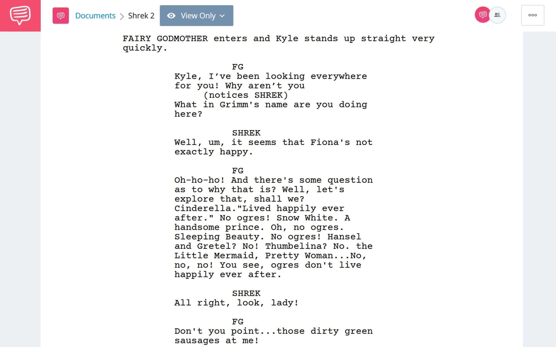 Shrek 2 PDF Script Teardown - Nobody loves an Ogre Scene Download App Tie-In - StudioBinder
