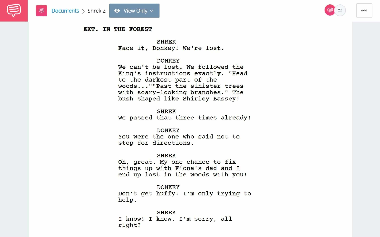 Shrek 2 PDF Script Teardown - Puss In The Boots Introduction Scene Download App Tie-In - StudioBinder