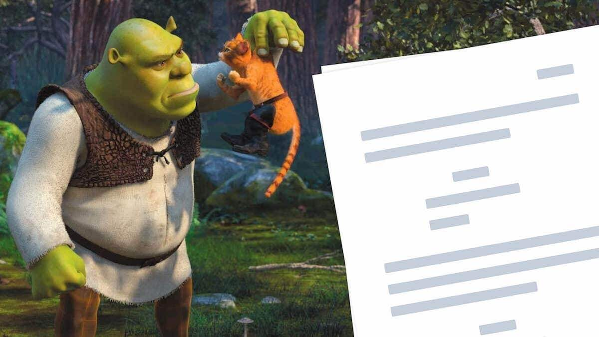 Shrek 2 Script Teardown -StudioBinder