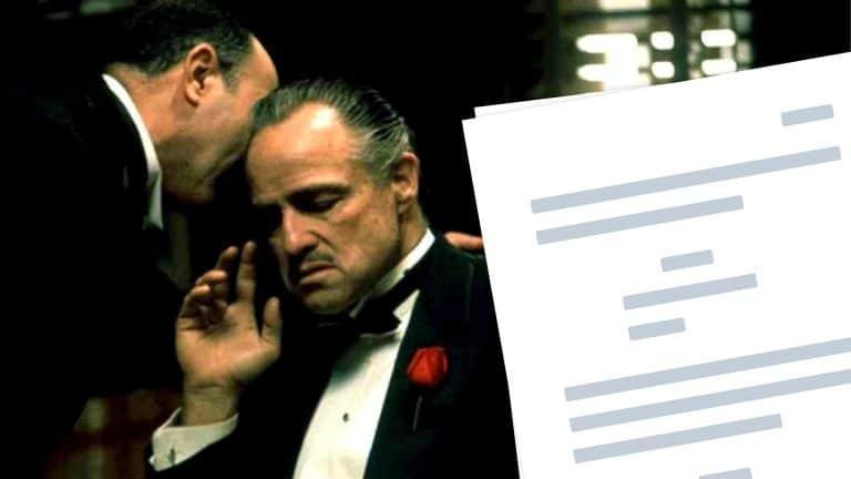 The Godfather Script Teardown - Featured