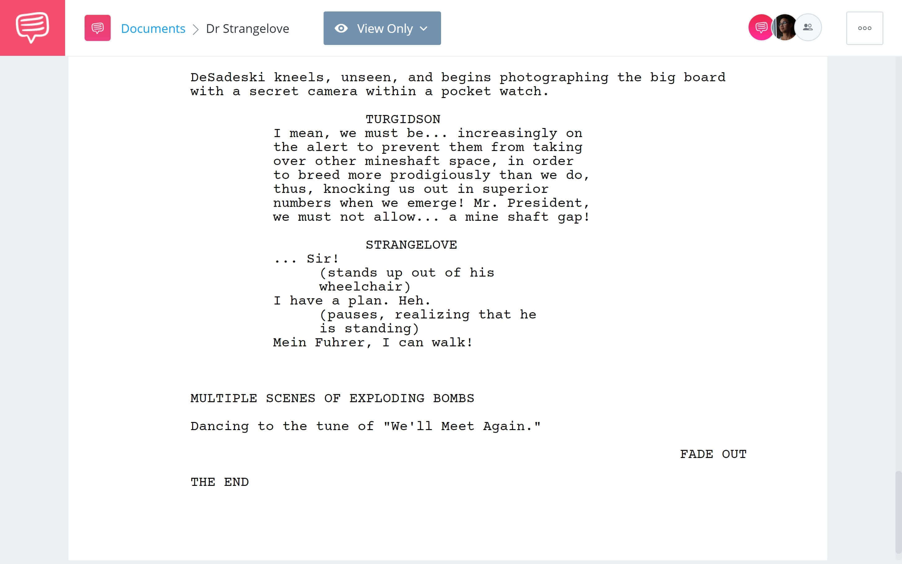 What is Black Comedy - Strangelove Ending - Studiobinder Scriptwriting Software