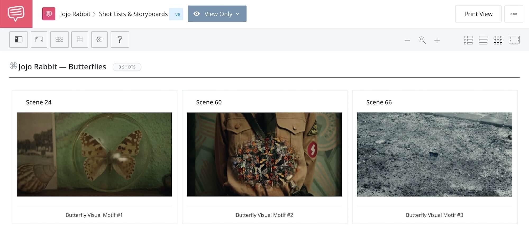 What is Jojo Rabbit About - Jojo Rabbit - Butterfly Motif - StudioBinder Storyboard Software
