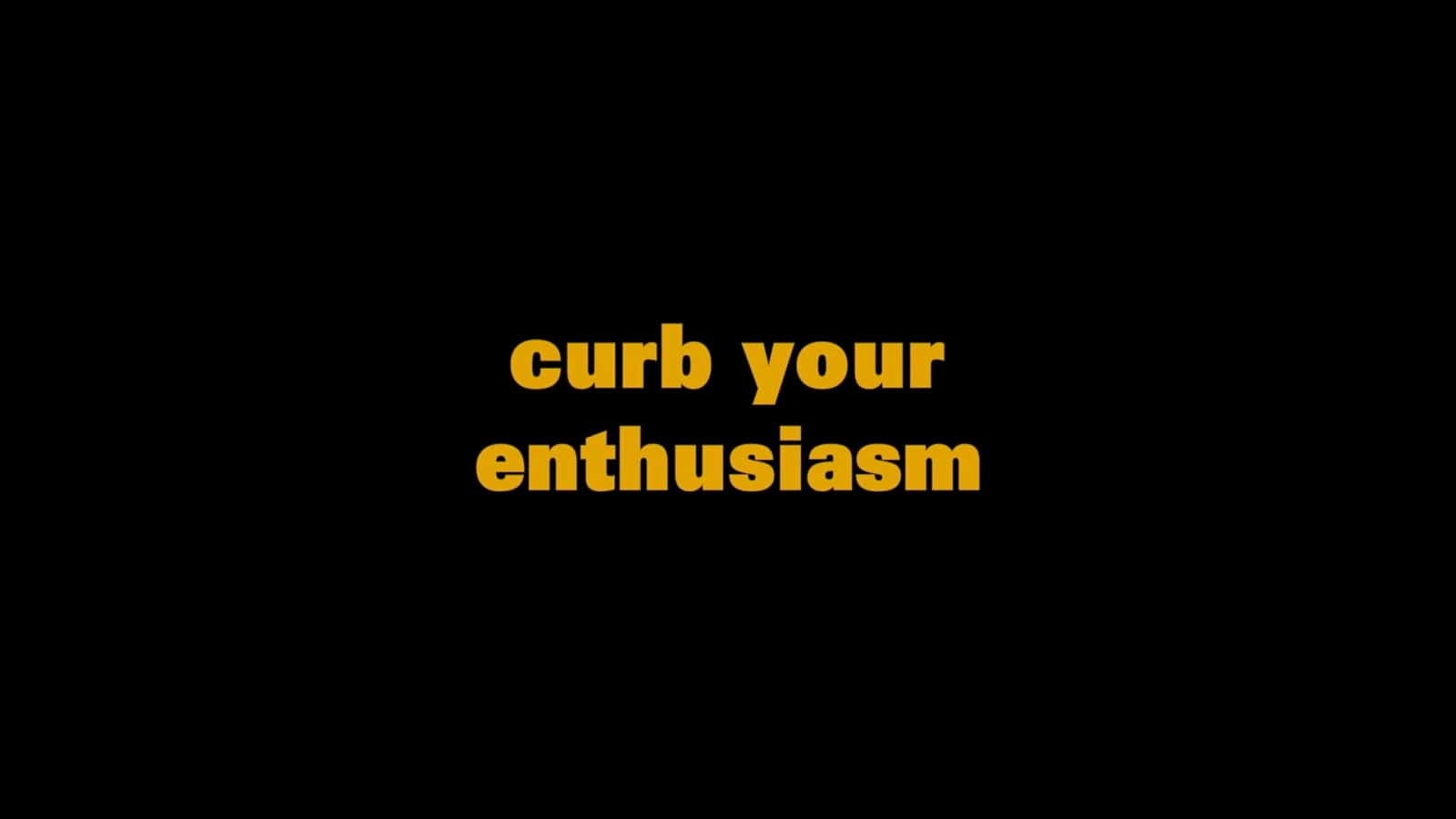 Movie Opening Credits - Curb Your Enthusiasm Title Sequence